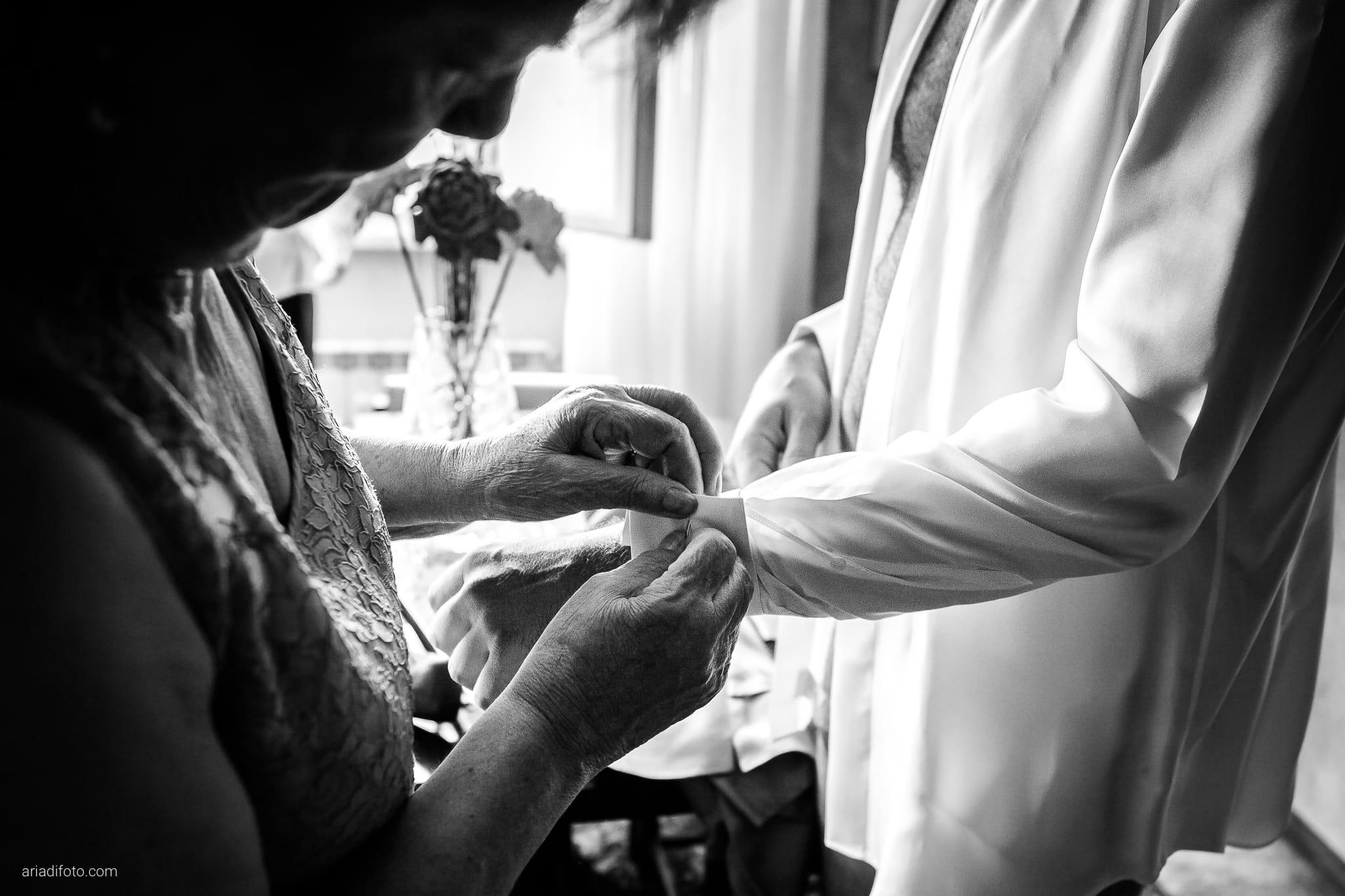 Elisa Diego matrimonio Villa Revoltella Trieste Paradiso Pocenia Udine preparativi camicia