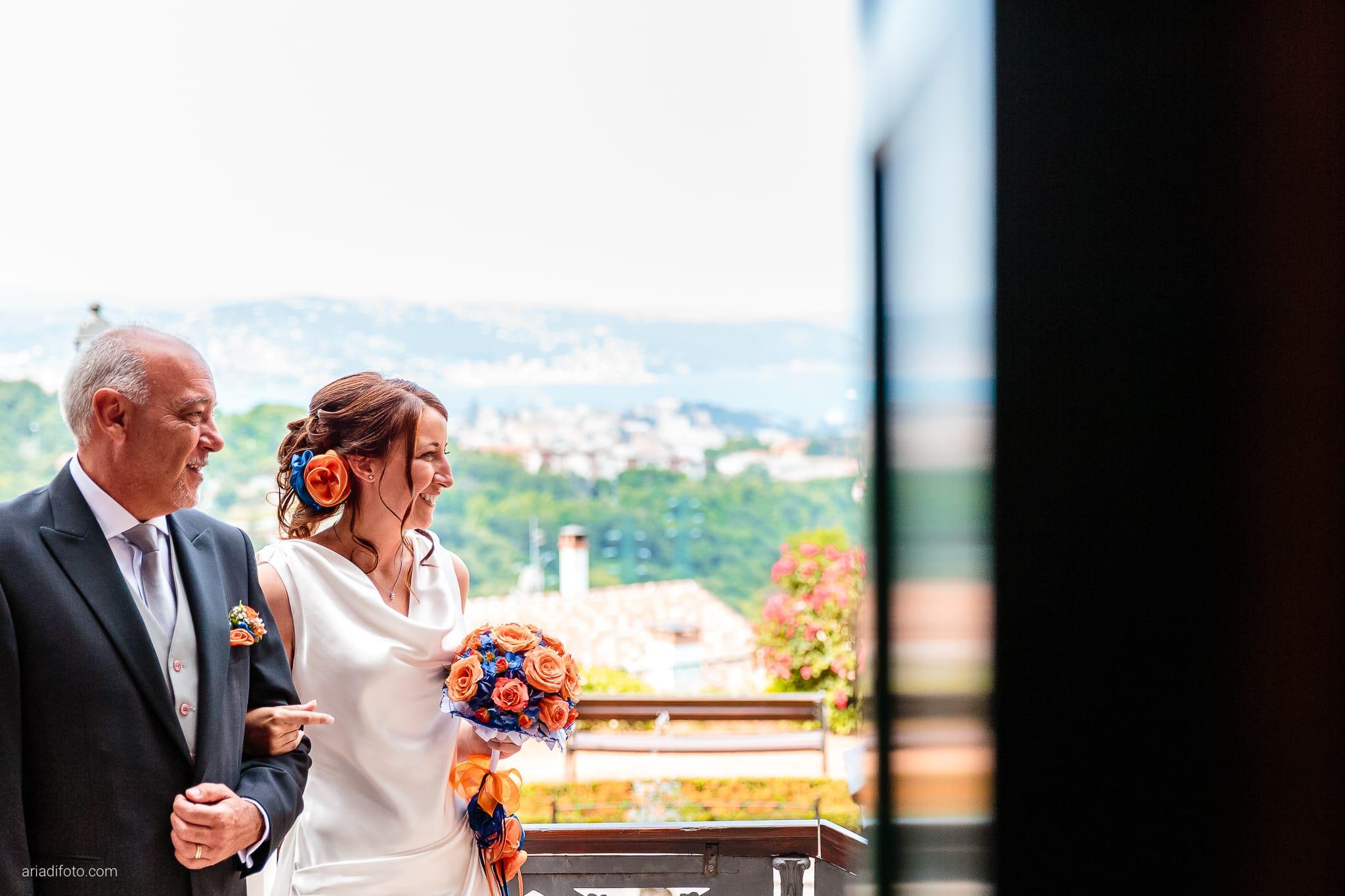 Elisa Diego matrimonio Villa Revoltella Trieste Paradiso Pocenia Udine cerimonia ingresso sposa