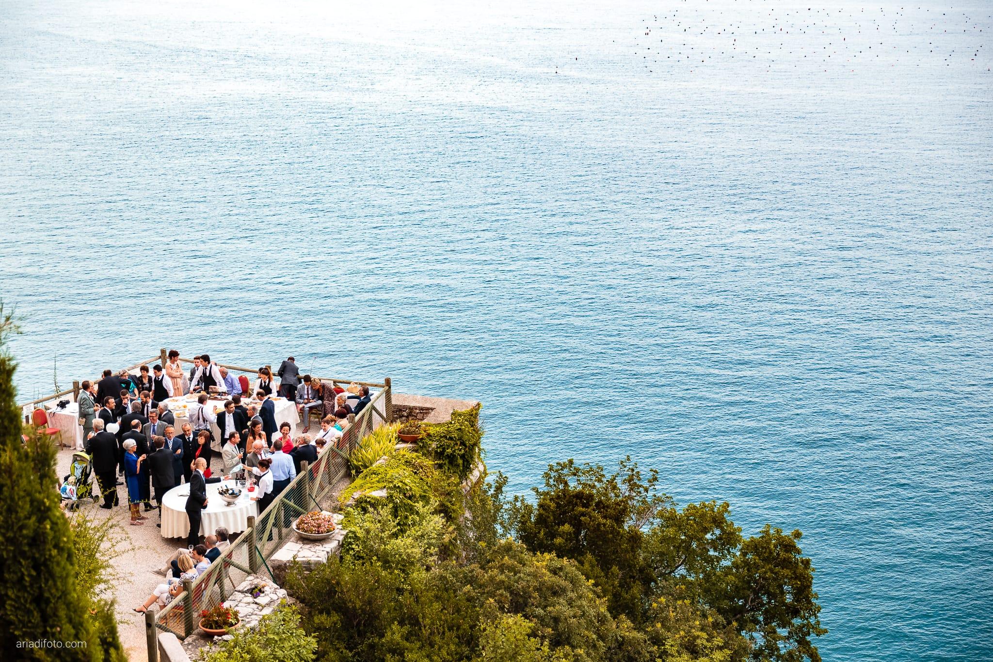 Donatella Enrico matrimonio Castello Duino Trieste ricevimento buffet terrazza mare