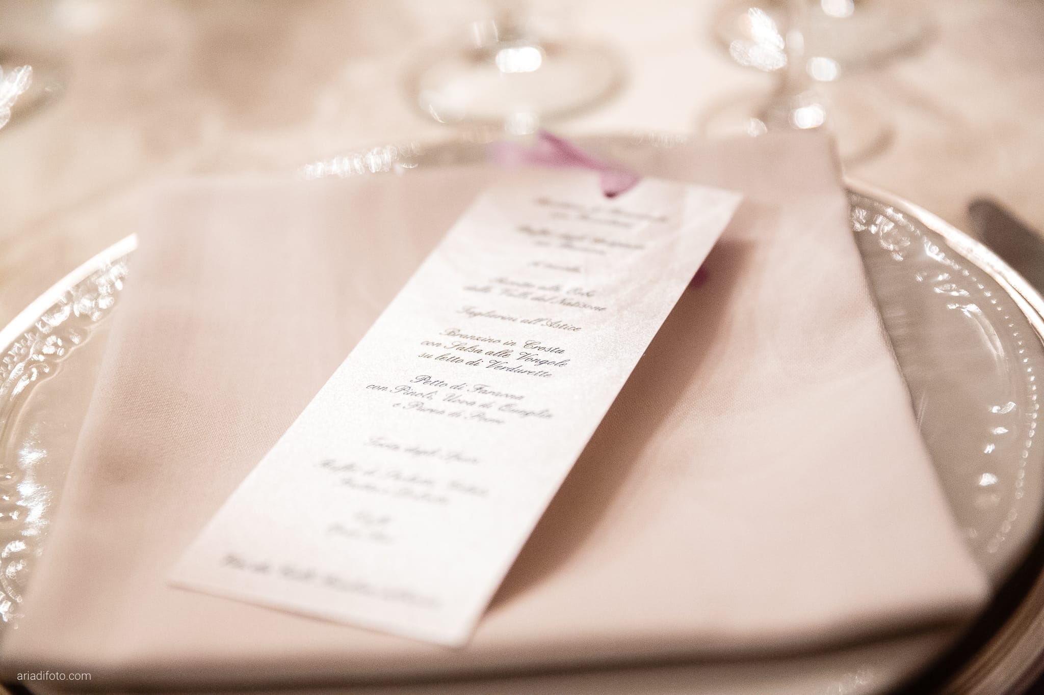 Donatella Enrico matrimonio Castello Duino Trieste ricevimento dettagli menu