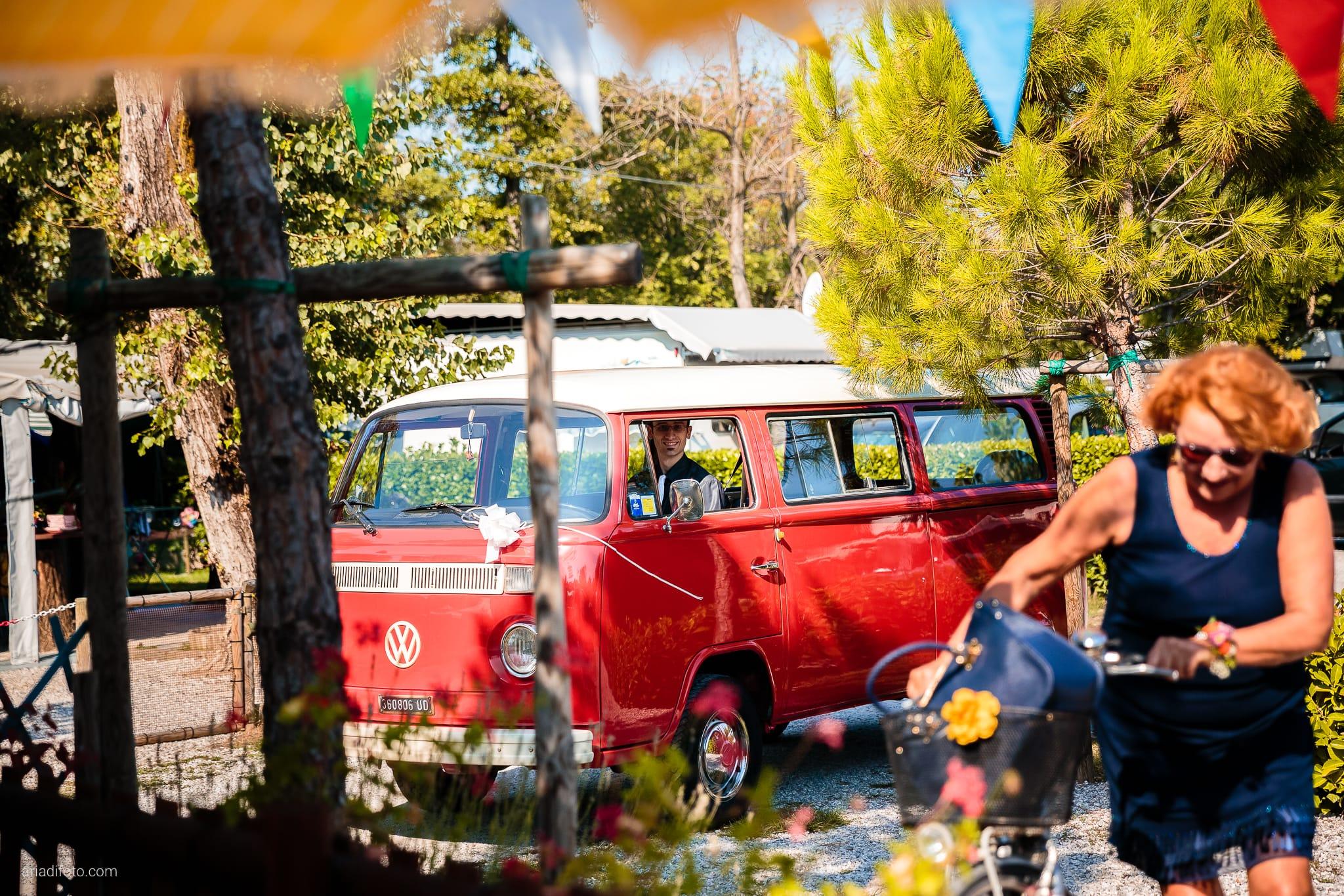 Sara Marco matrimonio Grado campeggio Punta Spin Gorizia preparativi volkswagen t2