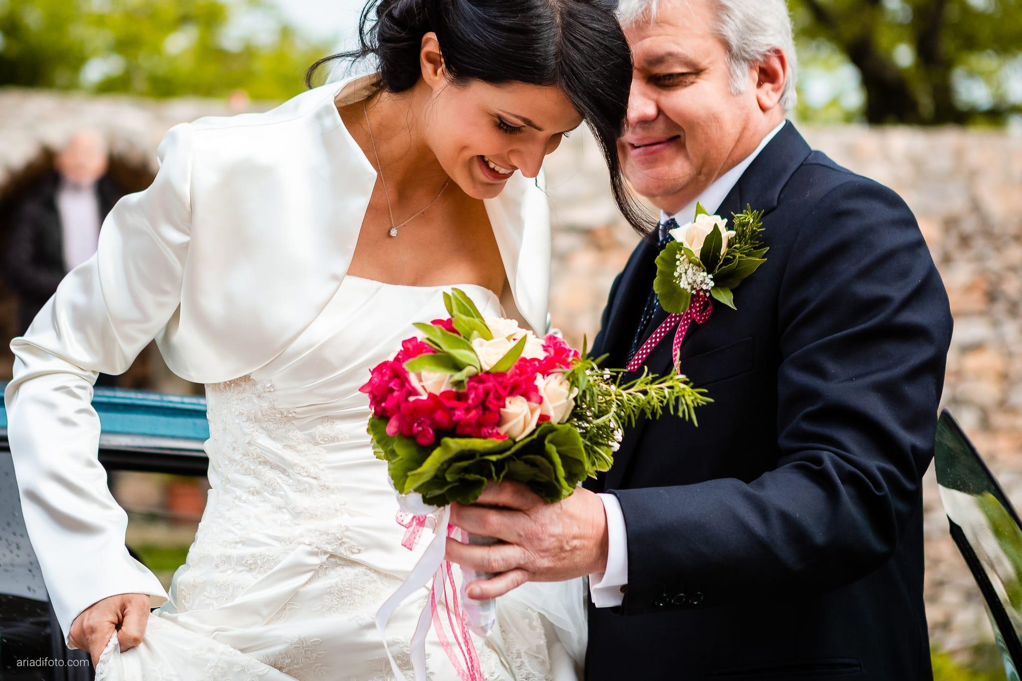 Alessandra Paolo matrimonio Villa Iachia Ruda Udine cerimonia auto sposa Monastero San Cipriano