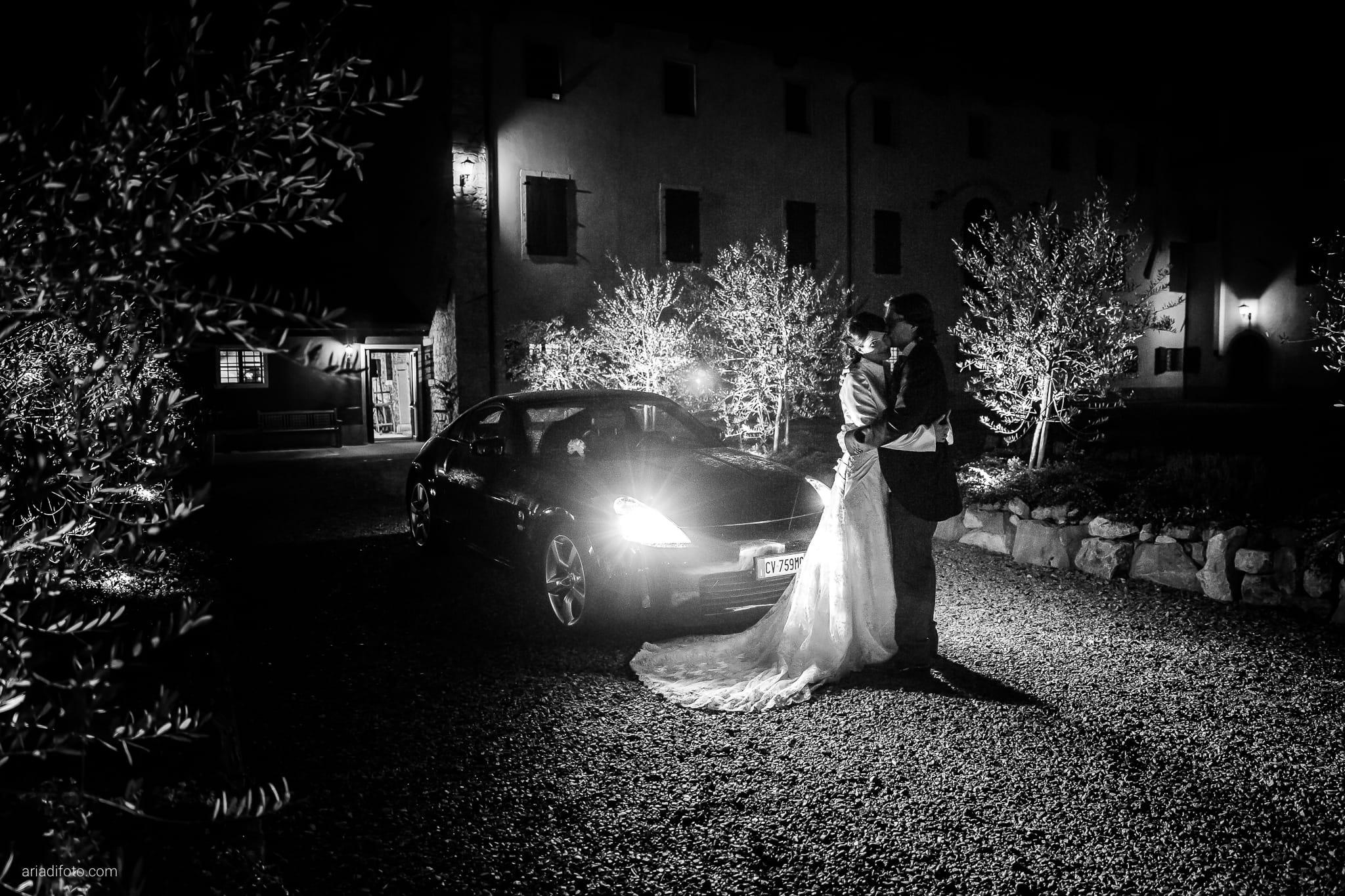 Alessandra Paolo matrimonio Villa Iachia Ruda Udine ritratti notturni auto