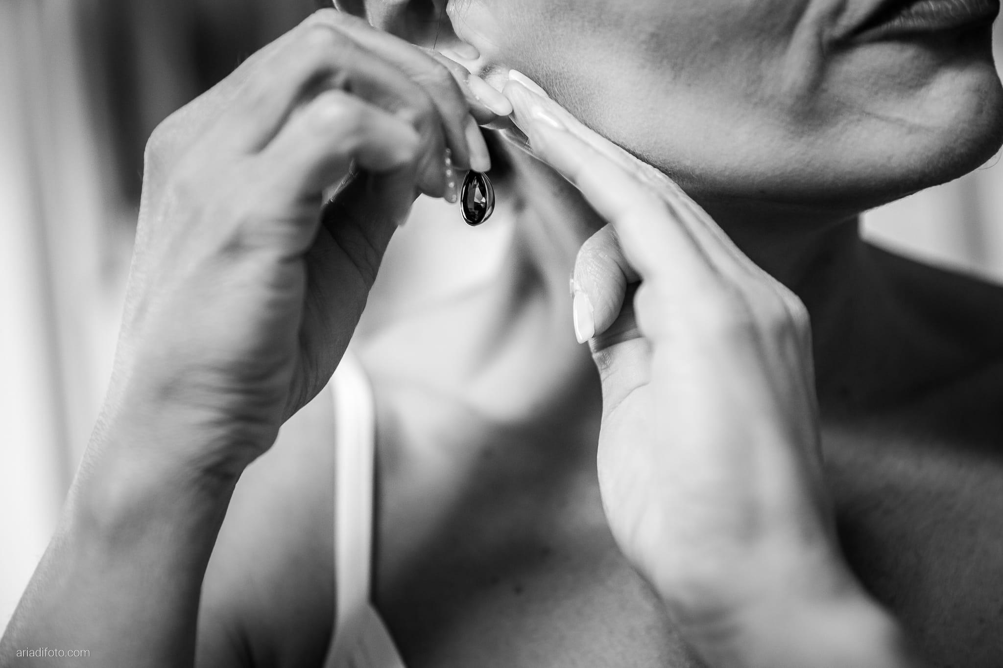 Elena Lorenzo matrimonio Zemono Vipacco Slovenia preparativi dettagli orecchini