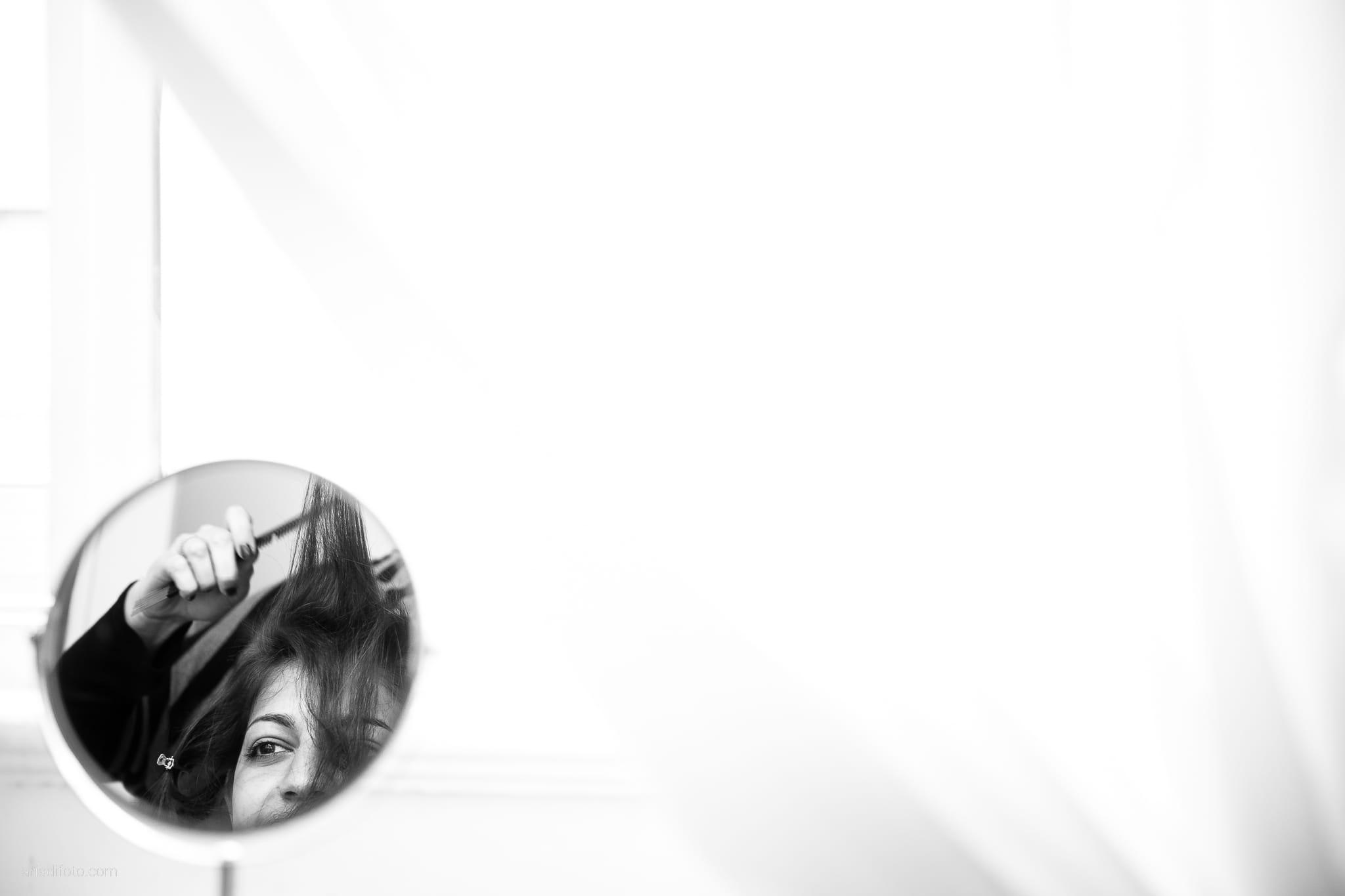 Fiordaliso Andrea matrimonio Salvia Rosmarino Trieste preparativi acconciatura specchio riflesso