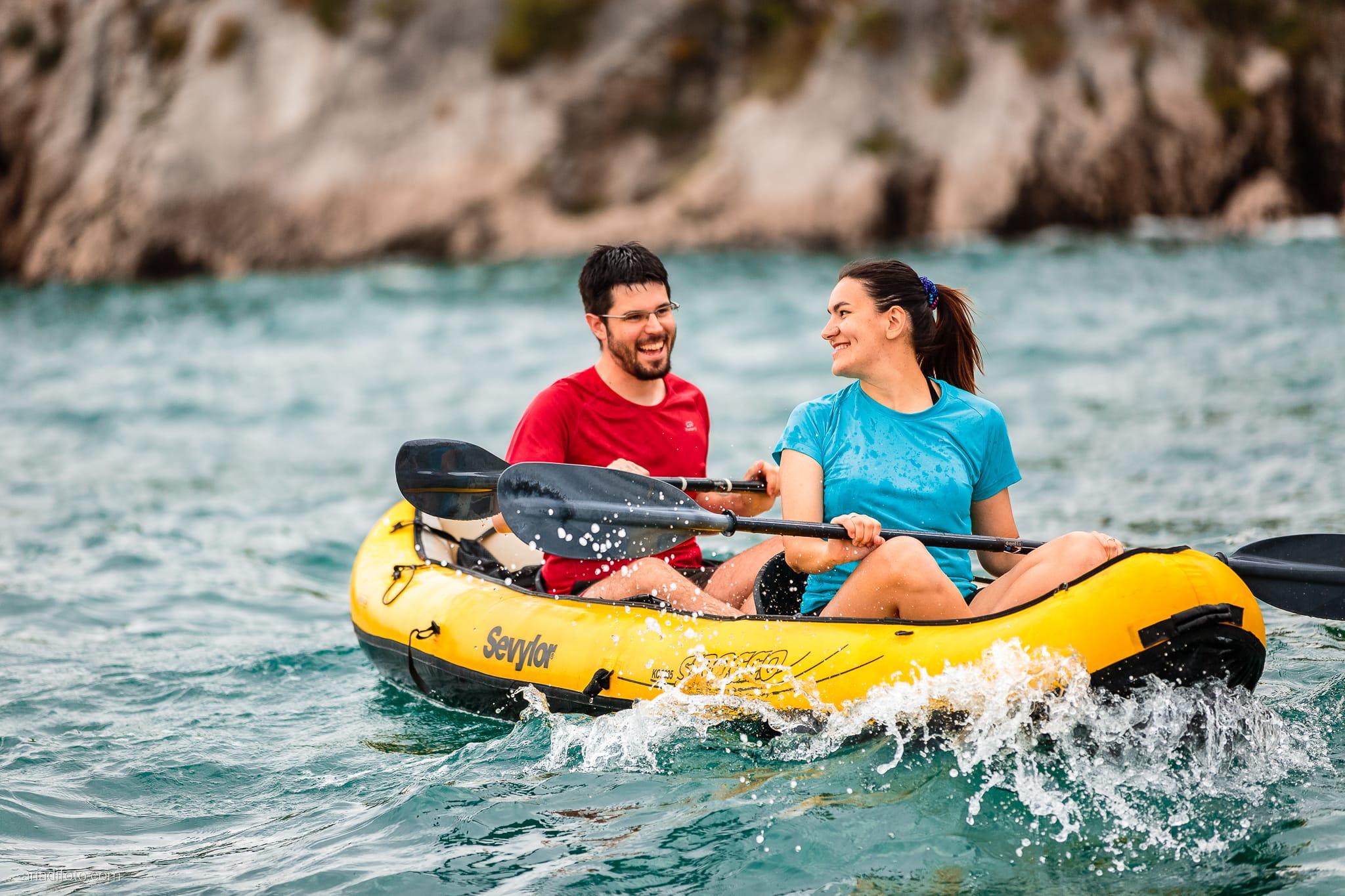 Ester Andrea prematrimoniale foci Timavo Castello Duino Kayak Trieste