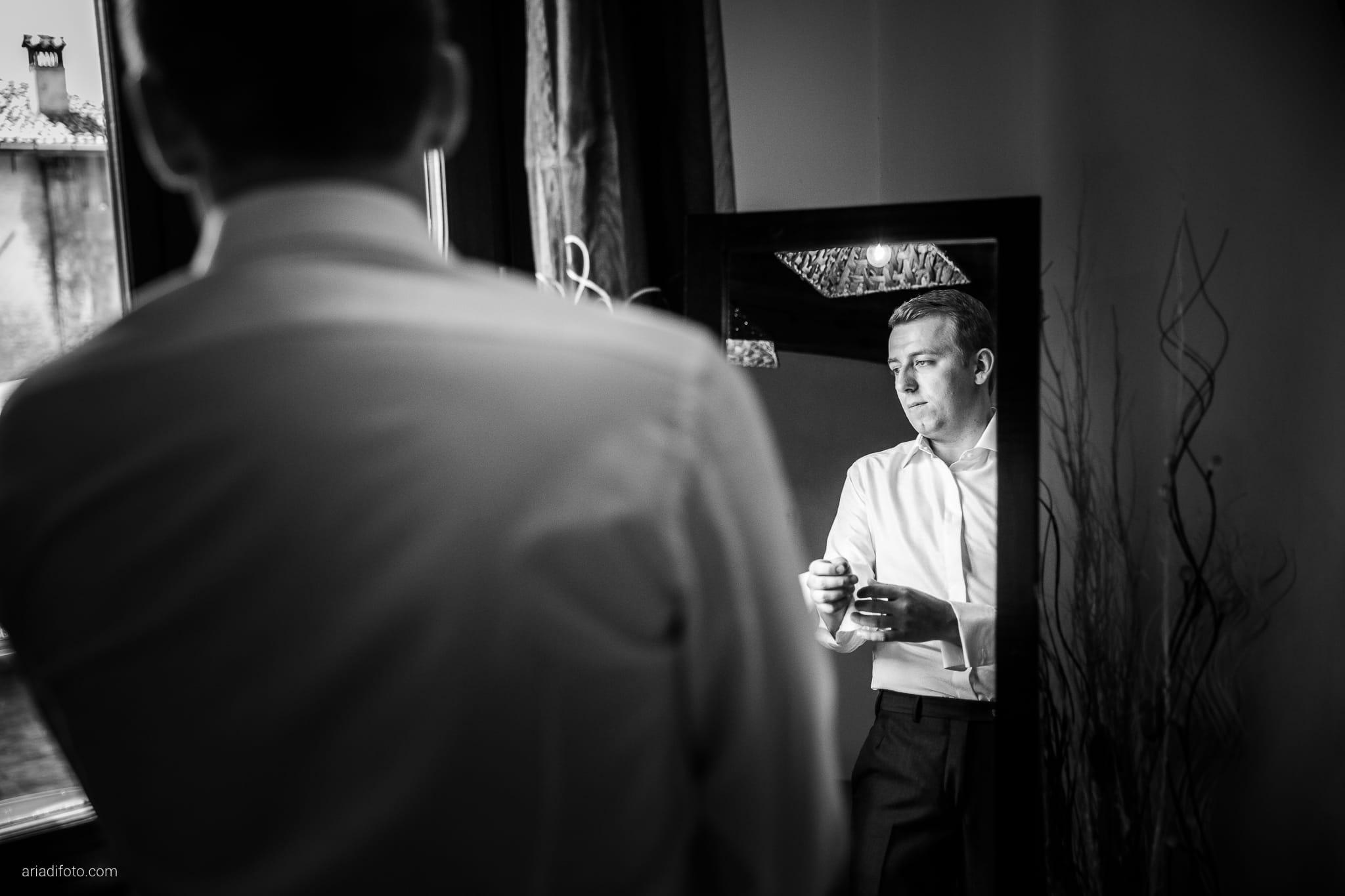 Chiara Mensur matrimonio Pradamano Baronesse Tacco San Floriano del Collio Gorizia preparativi specchio riflesso