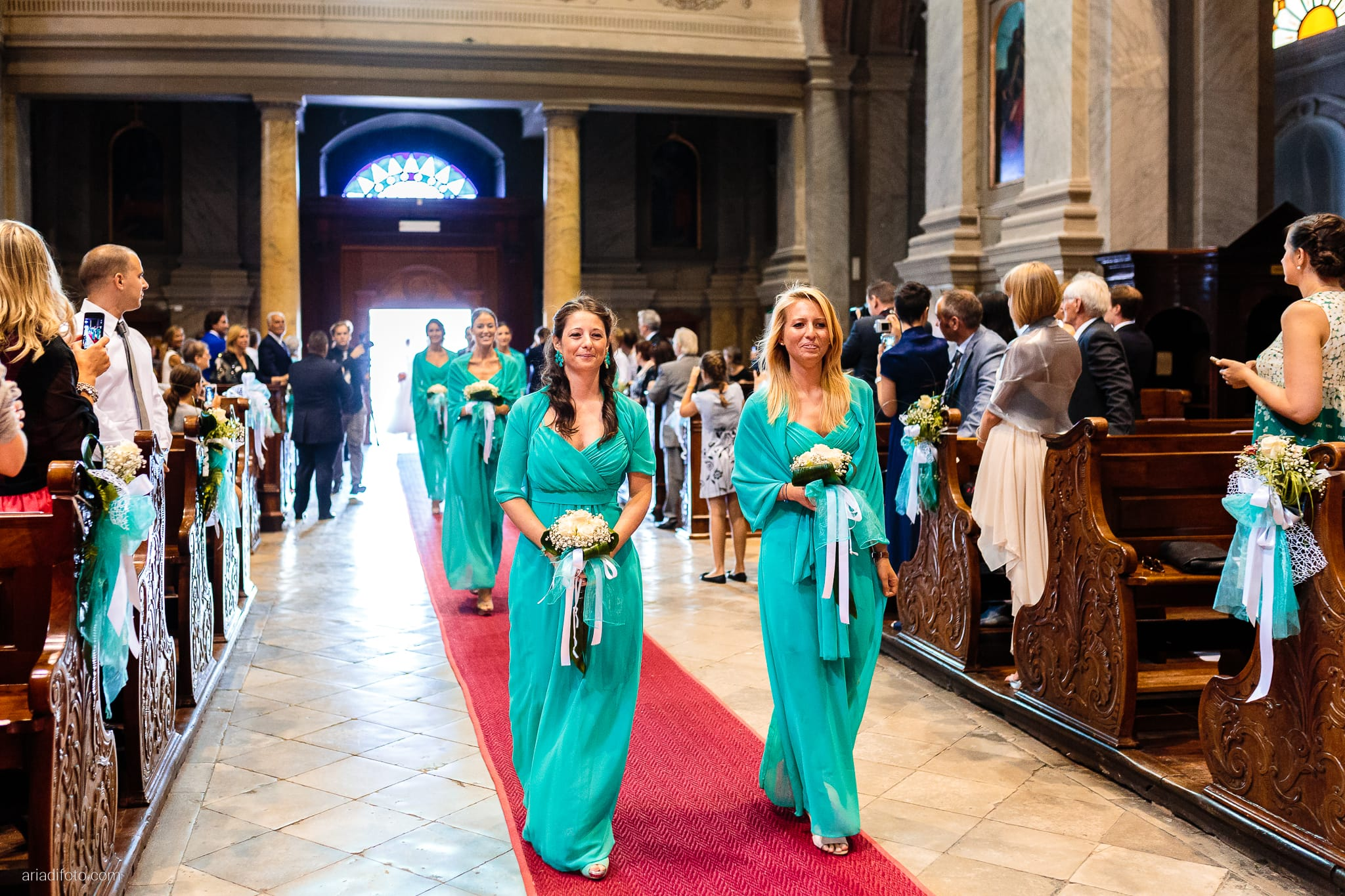 Martina Maurizio matrimonio Trieste Castello Spessa Gorizia cerimonia Santa Maria Maggiore ingresso sposa damigelle