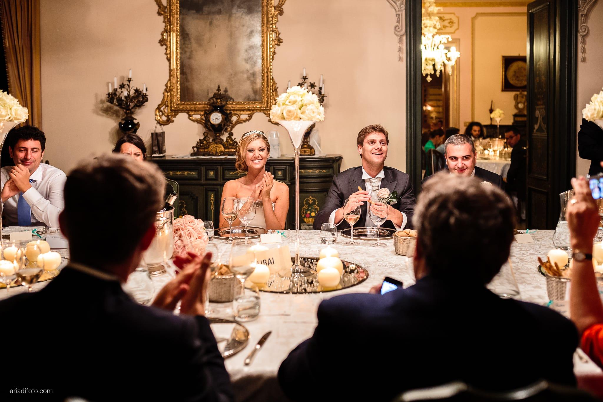 Martina Maurizio matrimonio Trieste Castello Spessa Gorizia ricevimento cena centrotavola