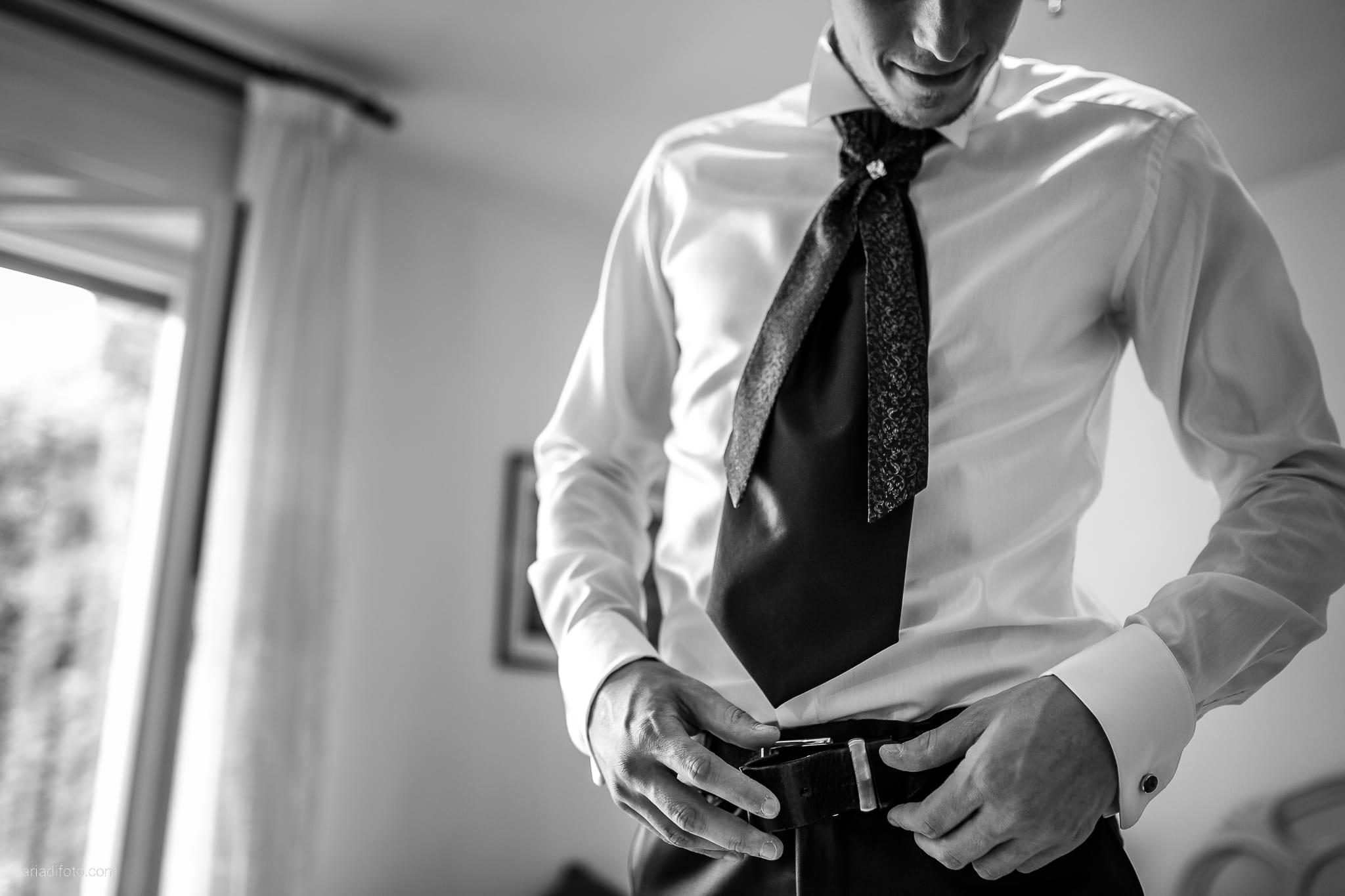 Dorella Stefano matrimonio Cormons Villa Chiopris Udine preparativi dettagli cintura cravatta