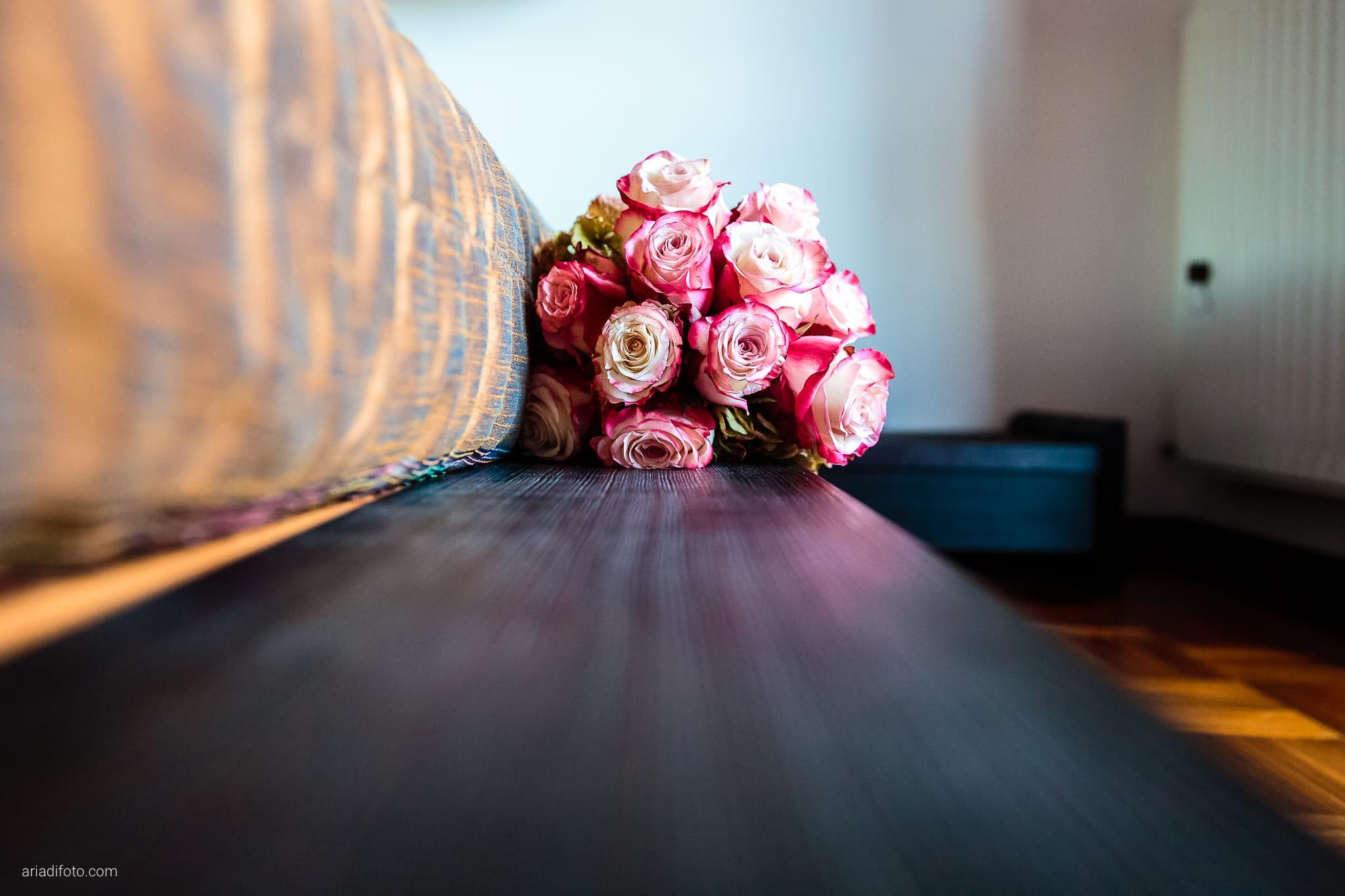 Francesca Patrick matrimonio Grado Villa Rigatti Fiumicello Udine preparativi dettagli bouquet rose