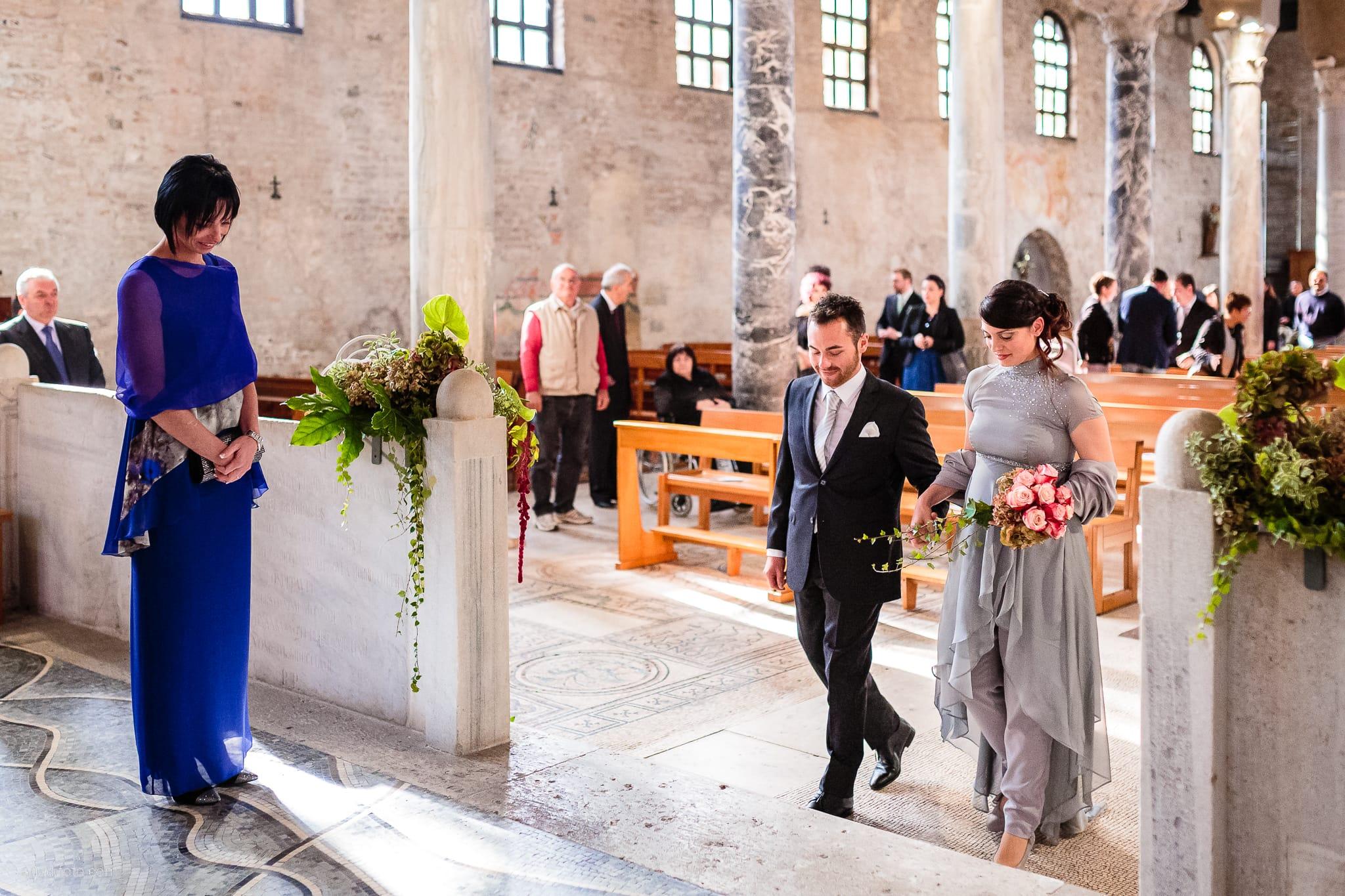Francesca Patrick matrimonio Grado Villa Rigatti Fiumicello Udine cerimonia ingresso sposa sposo Basilica di Sant'Eufemia