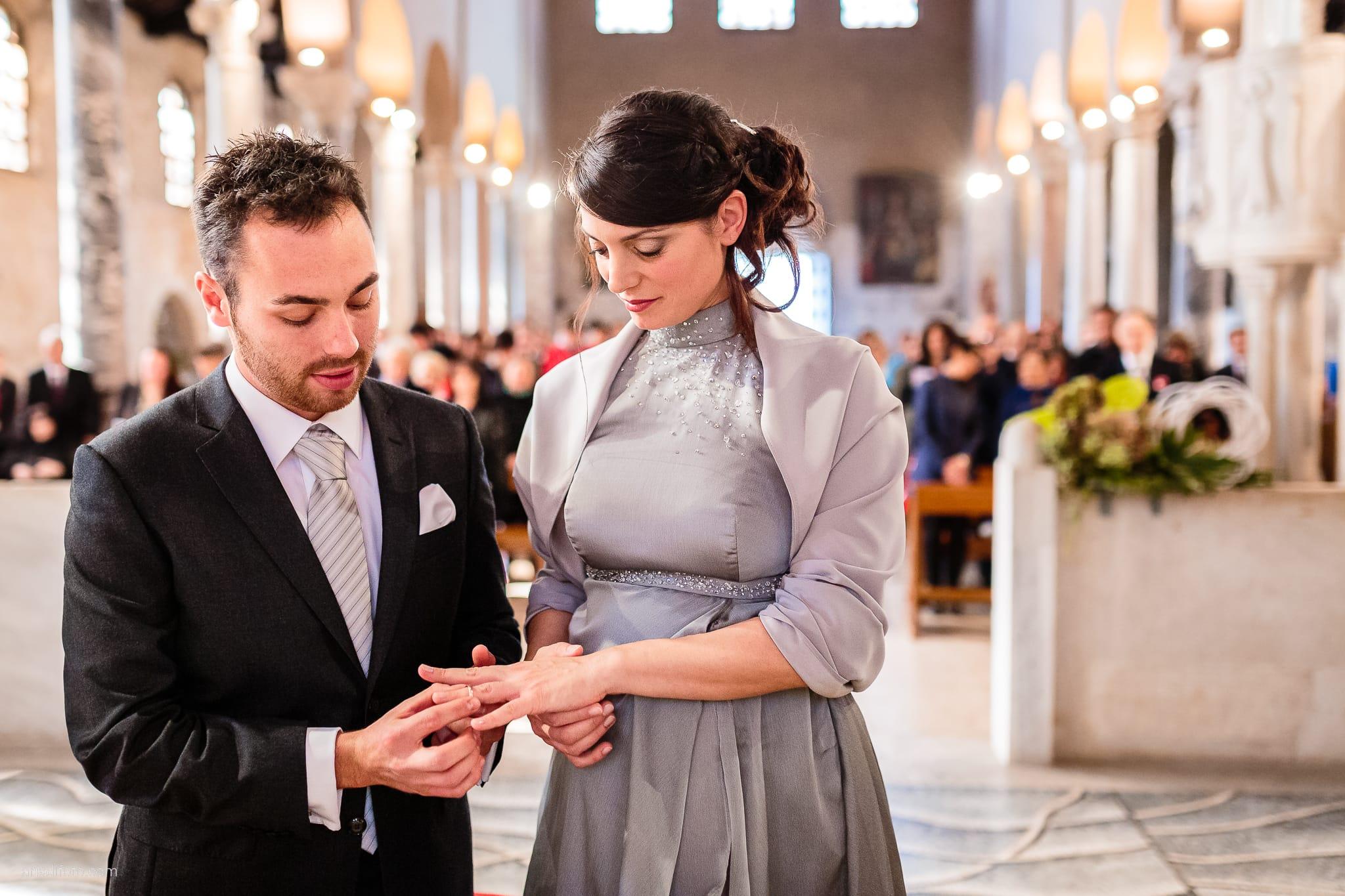 Francesca Patrick matrimonio Grado Villa Rigatti Fiumicello Udine cerimonia scambio anelli Basilica di Sant'Eufemia