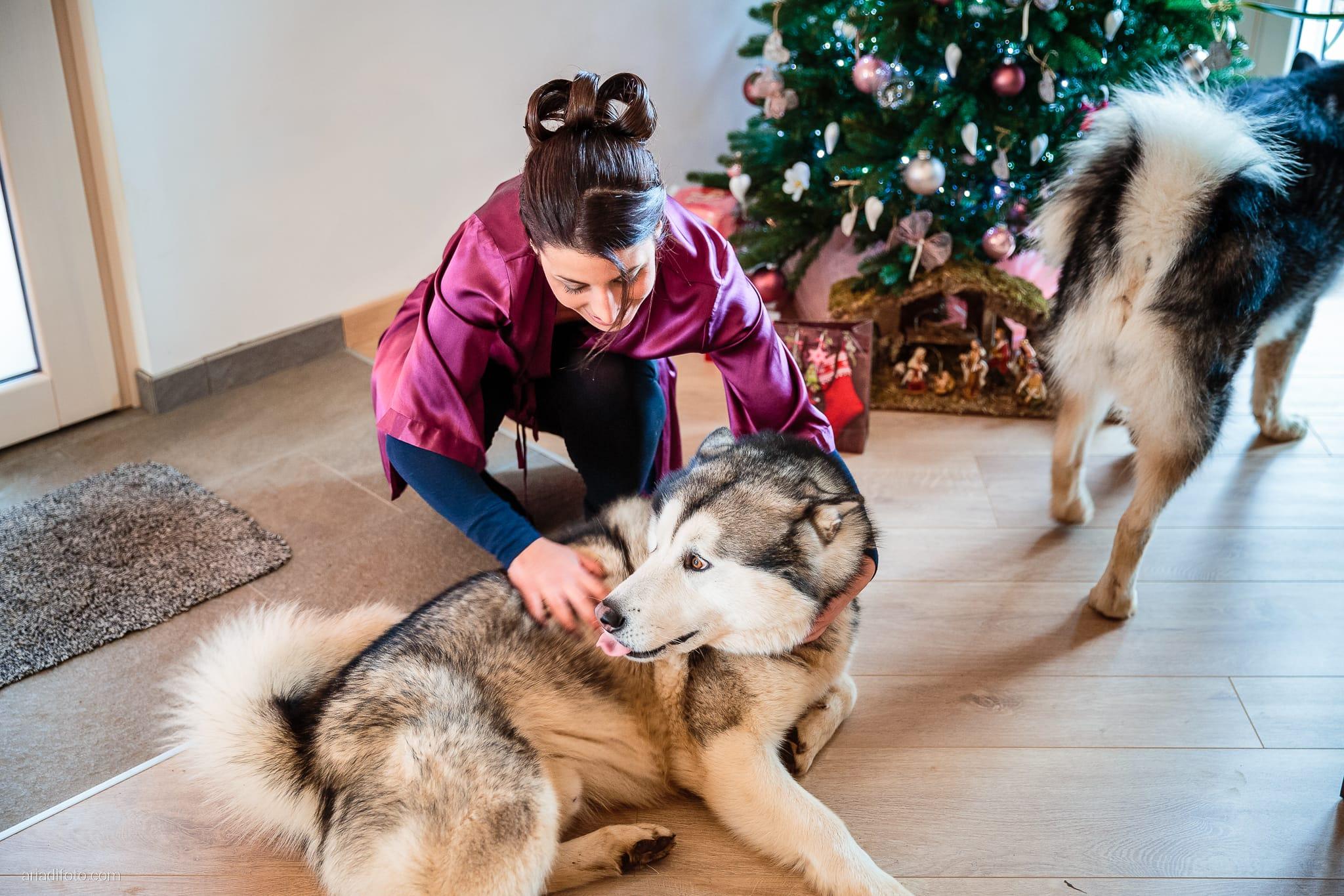 Elisa Matteo matrimonio Preval Gorizia Paradiso Pocenia Udine preparativi cani husky malamute