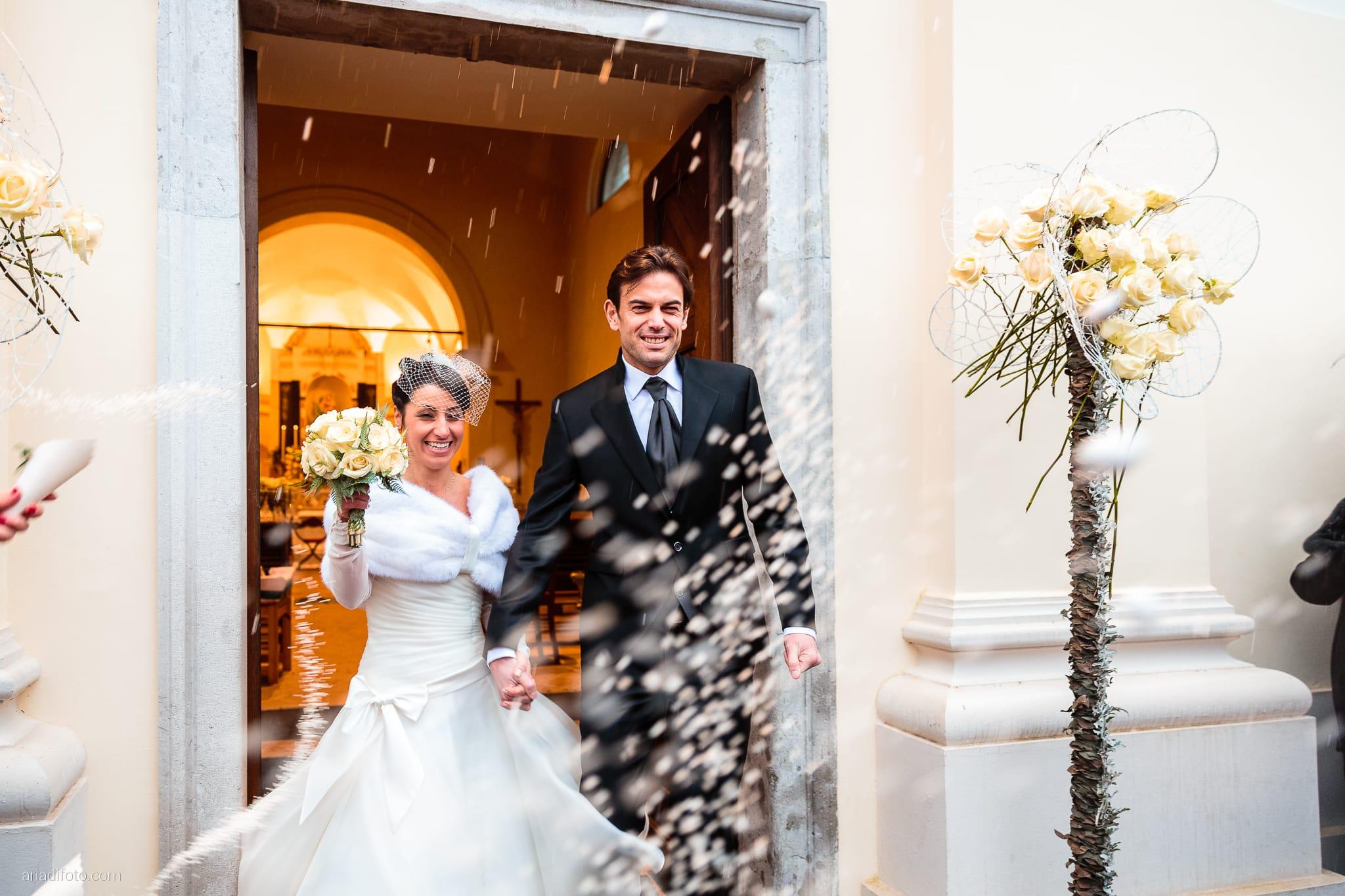 Elisa Matteo matrimonio Preval Gorizia Paradiso Pocenia Udine lancio del riso Santa Maria dei Popoli