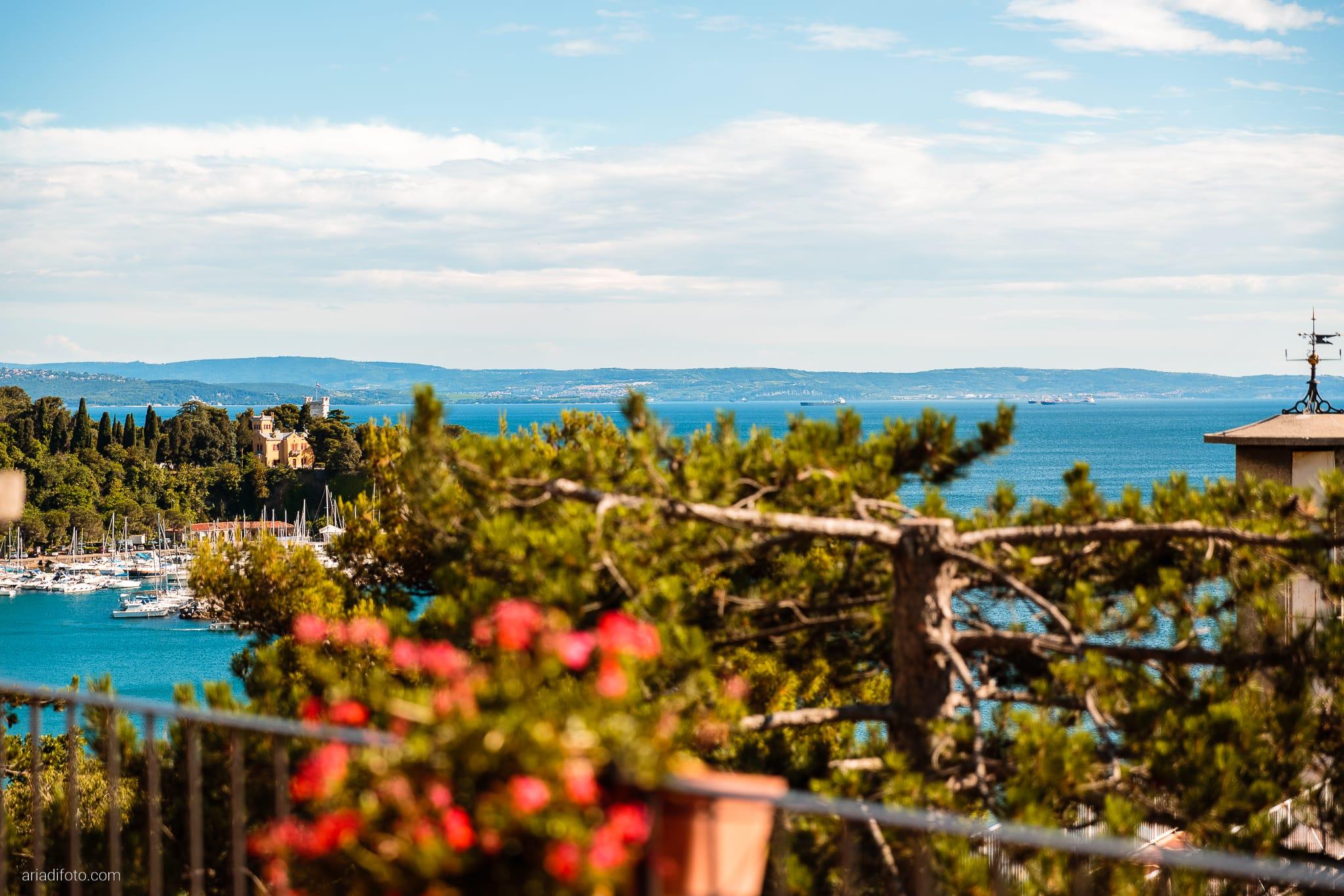 Michela Emilio Matrimonio Terrazze Riviera Trieste ricevimento location Miramare