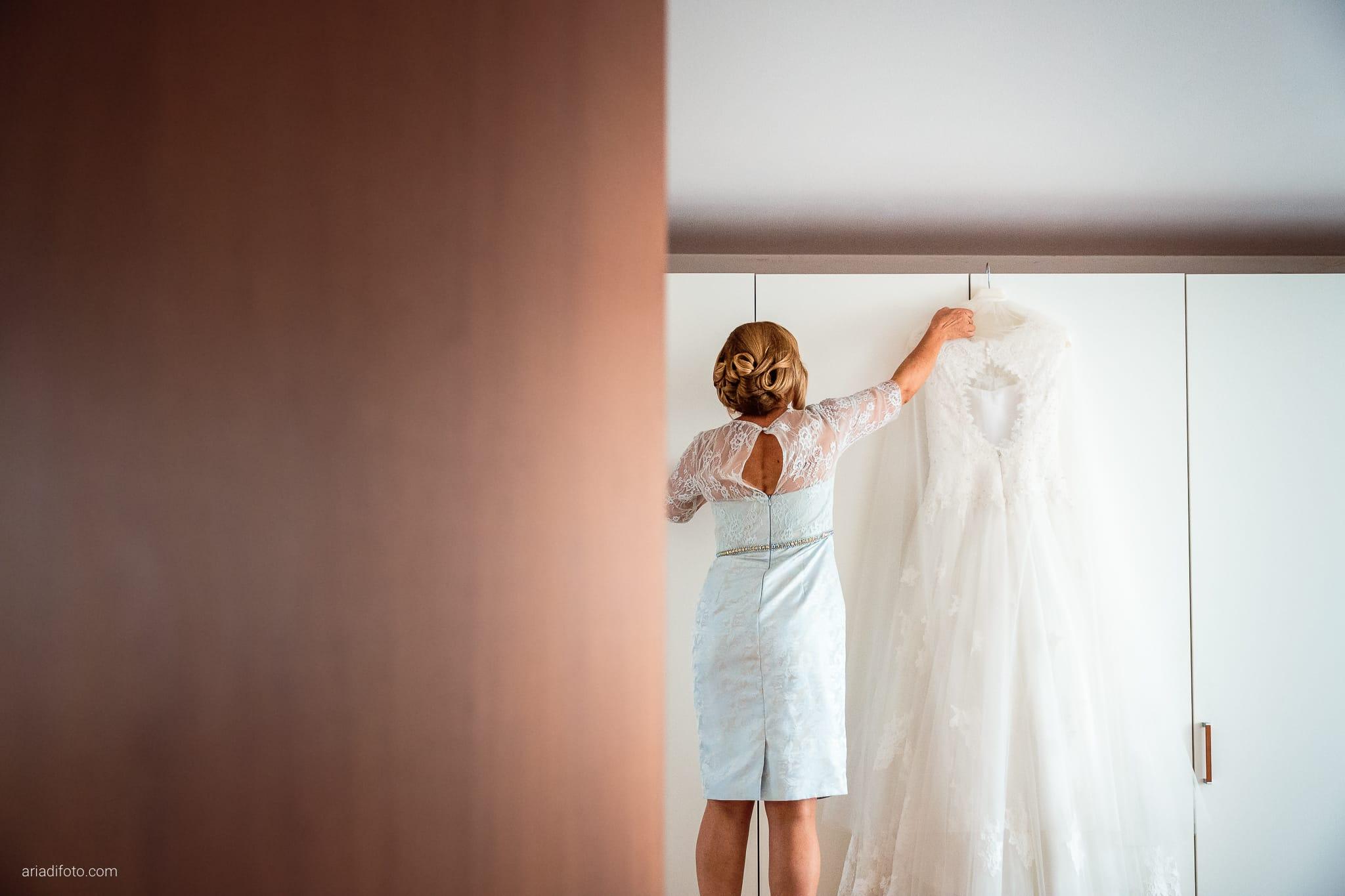 Valentina Francesco Matrimonio Pagnacco Castello Villalta Fagagna Udine preparativi abito mamma