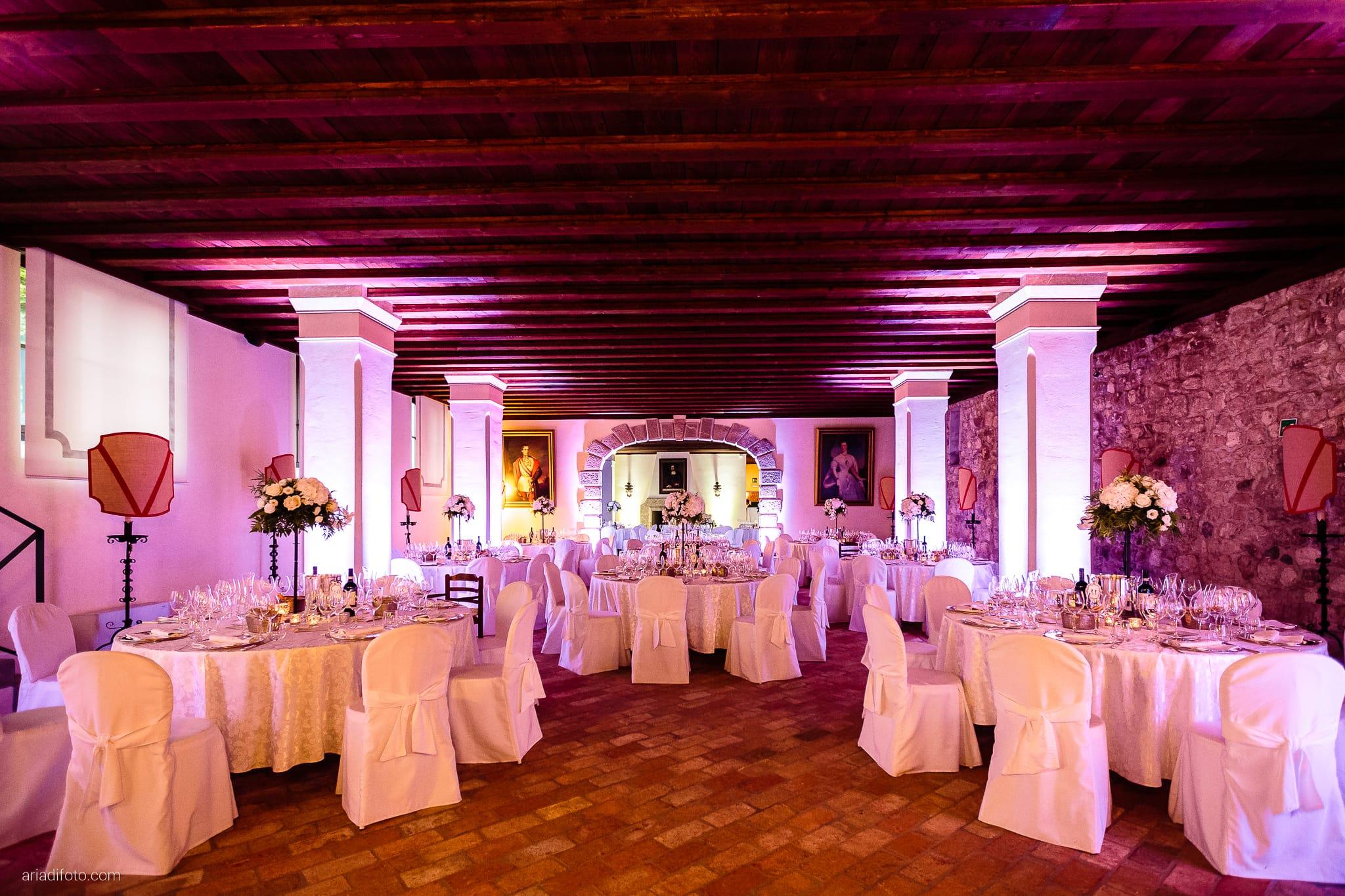 Valentina Francesco Matrimonio Pagnacco Castello Villalta Fagagna Udine ricevimento sala decorazioni allestimenti