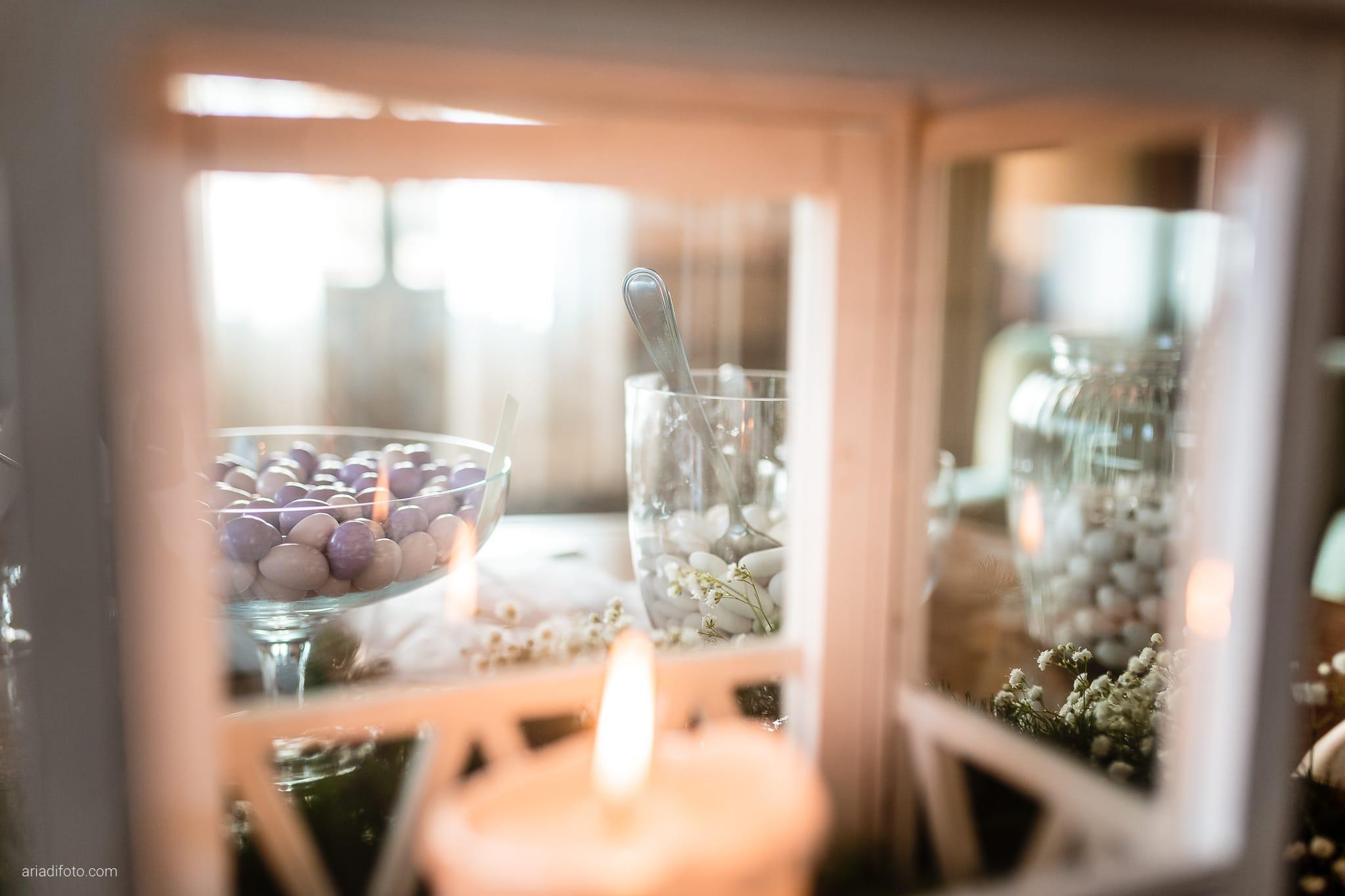 Eleonora Andrea Matrimonio Castello Papadopoli Giol San Polo Piave Treviso ricevimento dettagli confetti candela