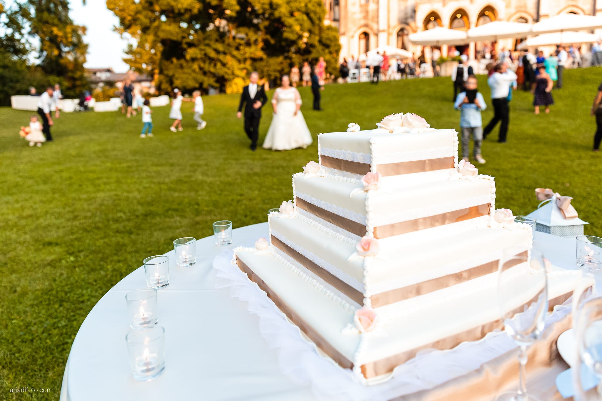 Eleonora Andrea Matrimonio Castello Papadopoli Giol San Polo Piave Treviso ricevimento torta