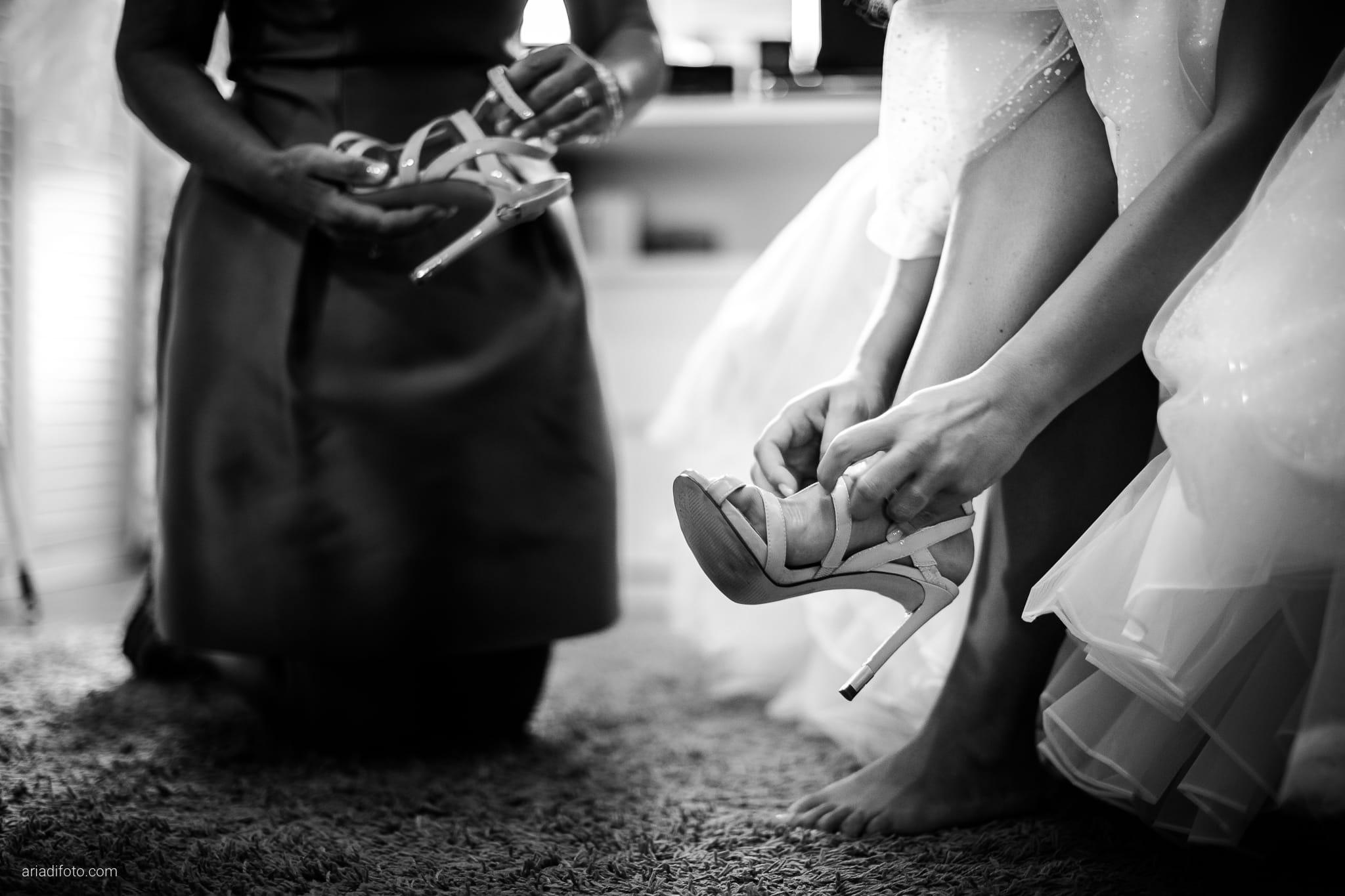 Giorgia Davide Matrimonio Villa Revoltella Salvia Rosmarino Trieste preparativi dettagli scarpe