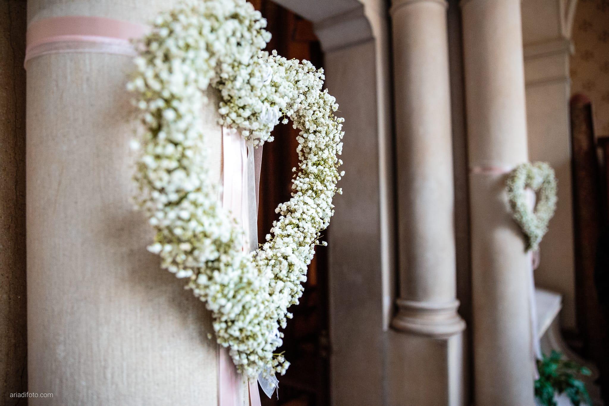 Giorgia Davide Matrimonio Chiesa San Pasquale Villa Revoltella Salvia Rosmarino Trieste cerimonia dettagli fiori gypsophila cuore
