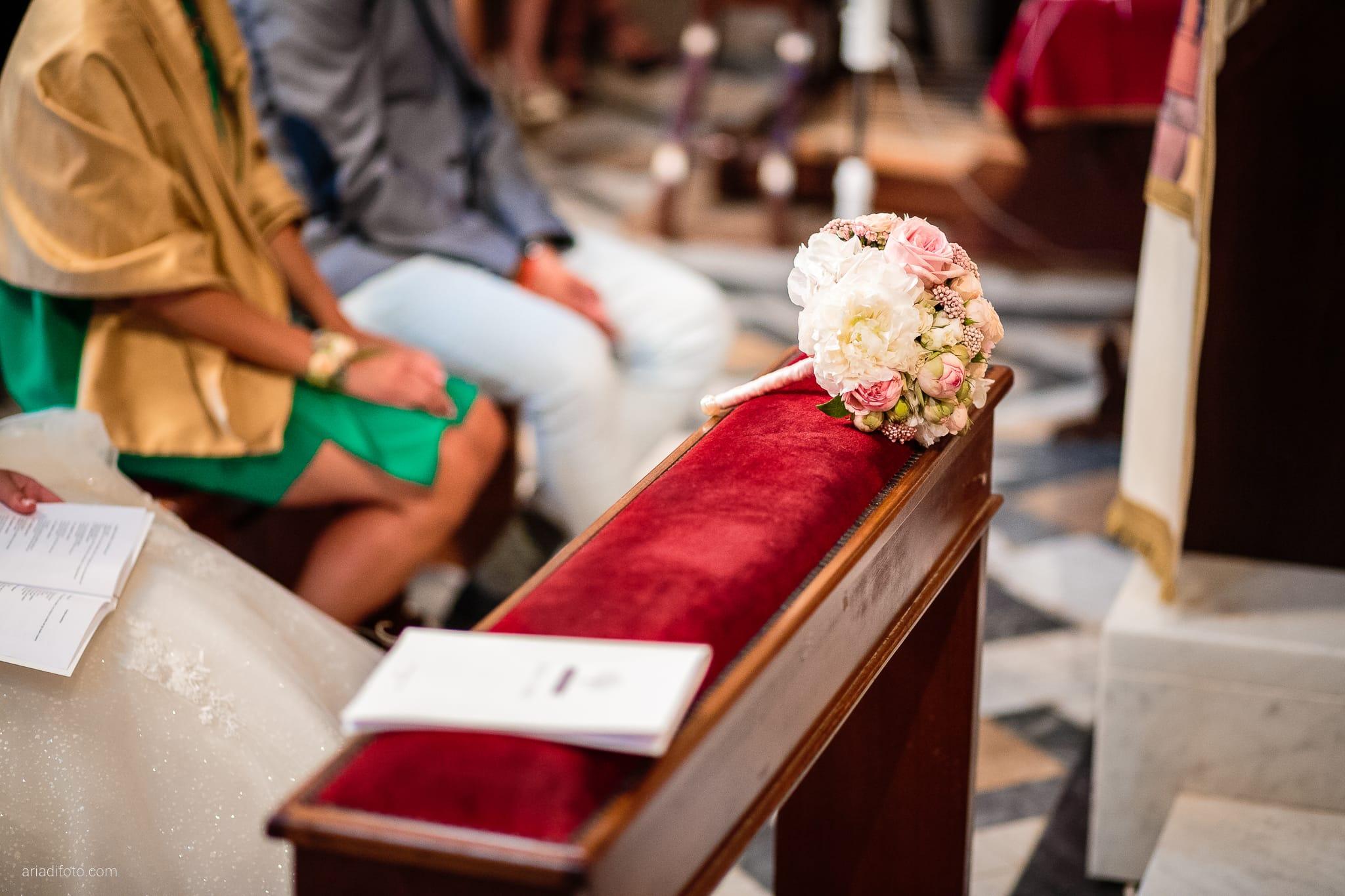 Giorgia Davide Matrimonio Chiesa San Pasquale Villa Revoltella Salvia Rosmarino Trieste cerimonia dettagli bouquet rose