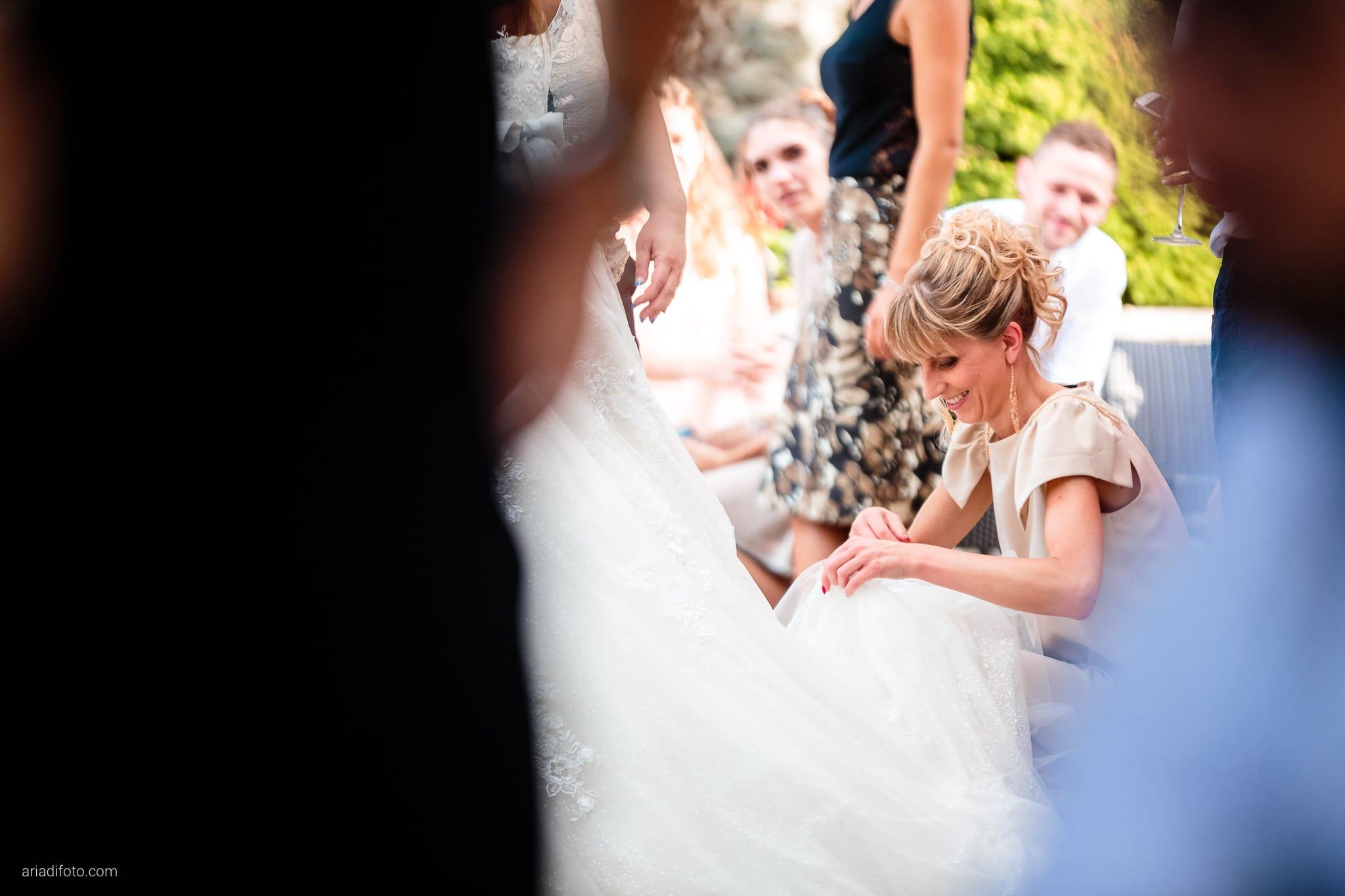 Giorgia Davide Matrimonio Villa Revoltella Salvia Rosmarino Trieste ricevimento momenti amica abito