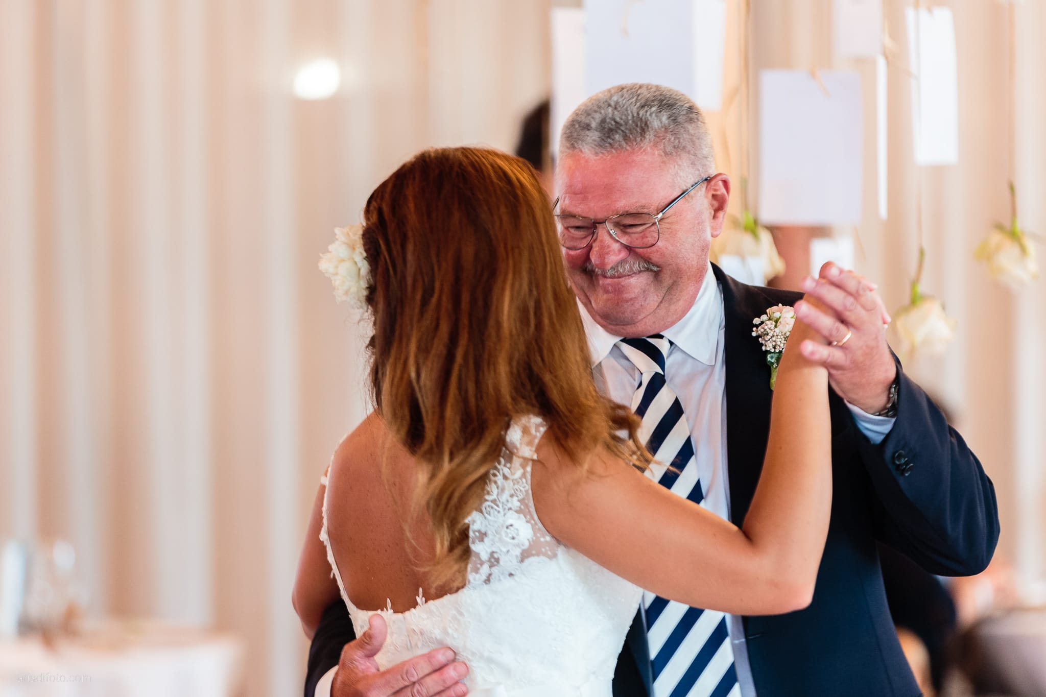 Giorgia Davide Matrimonio Villa Revoltella Salvia Rosmarino Trieste ricevimento primo ballo papà