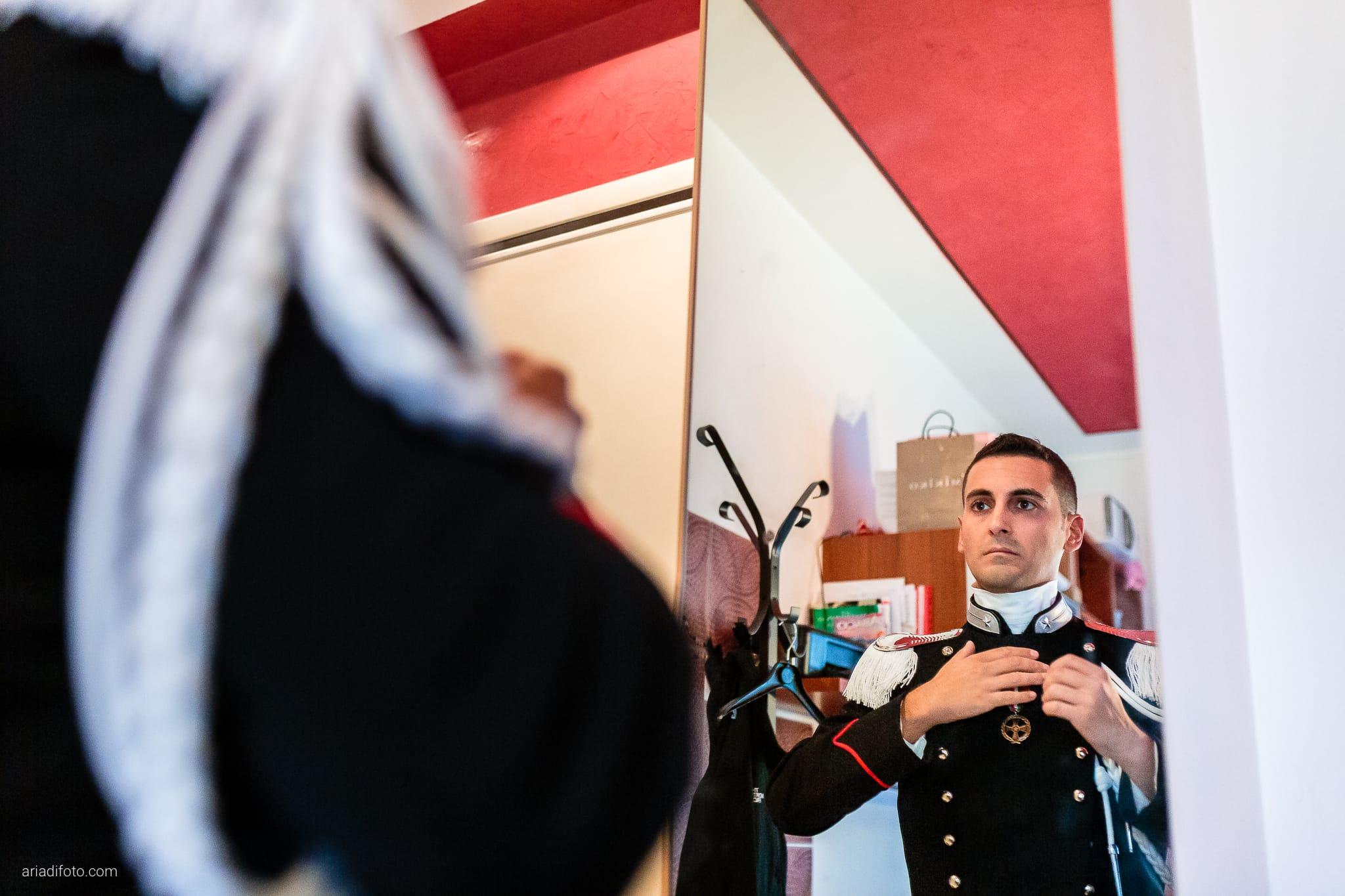 Magdalena Massimo Matrimonio Ristorante Le Terrazze Riviera Trieste preparativi divisa abito specchio riflesso