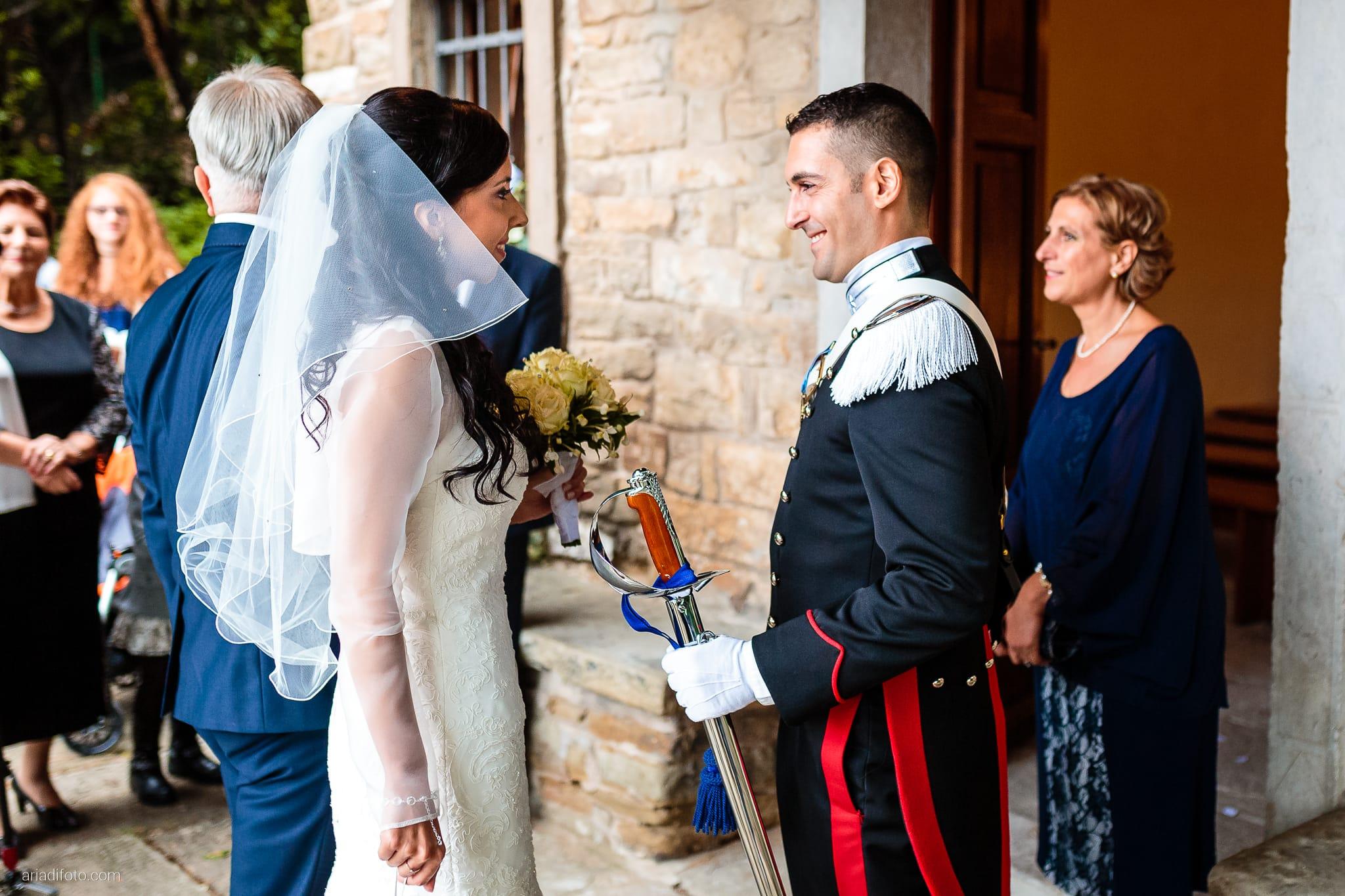 Magdalena Massimo Matrimonio Chiesa SS. Giovanni e Pelagio Ristorante Le Terrazze Riviera Trieste cerimonia ingresso sposa