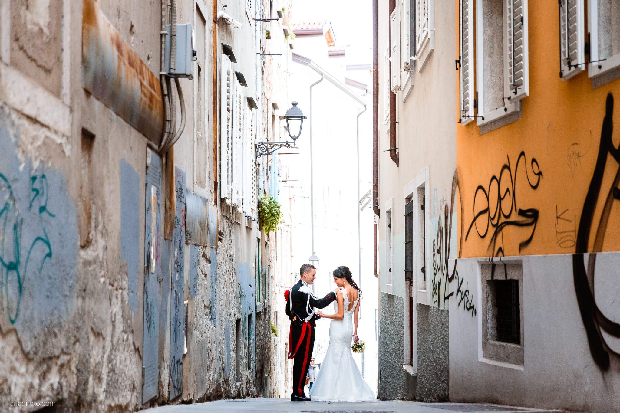 Magdalena Massimo Matrimonio Ristorante Le Terrazze Riviera Trieste ritratti sposi Cavana