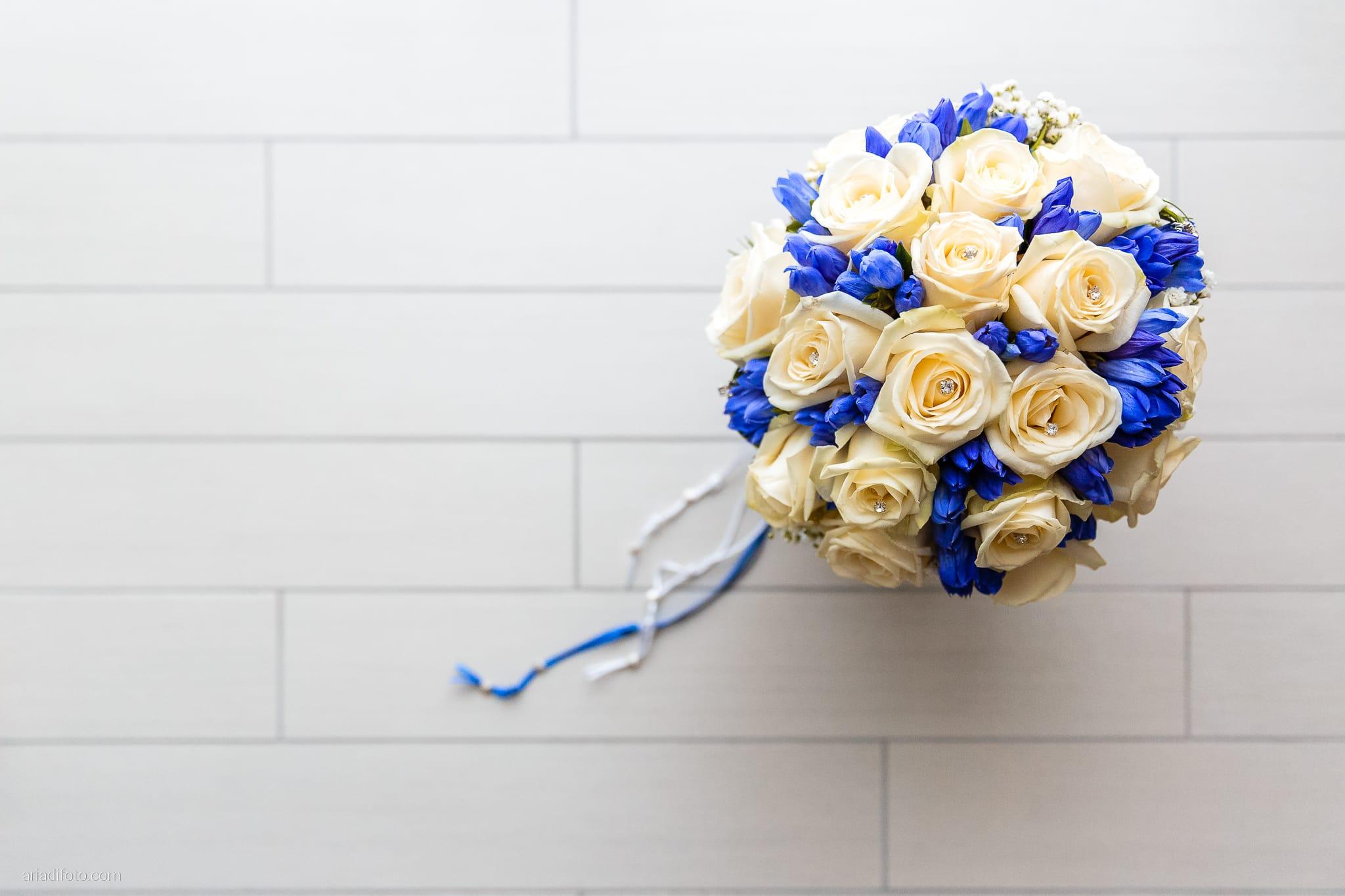 Rossella Stefano Matrimonio Muggia Mulin Koper Slovenia preparativi dettagli bouquet rose blu