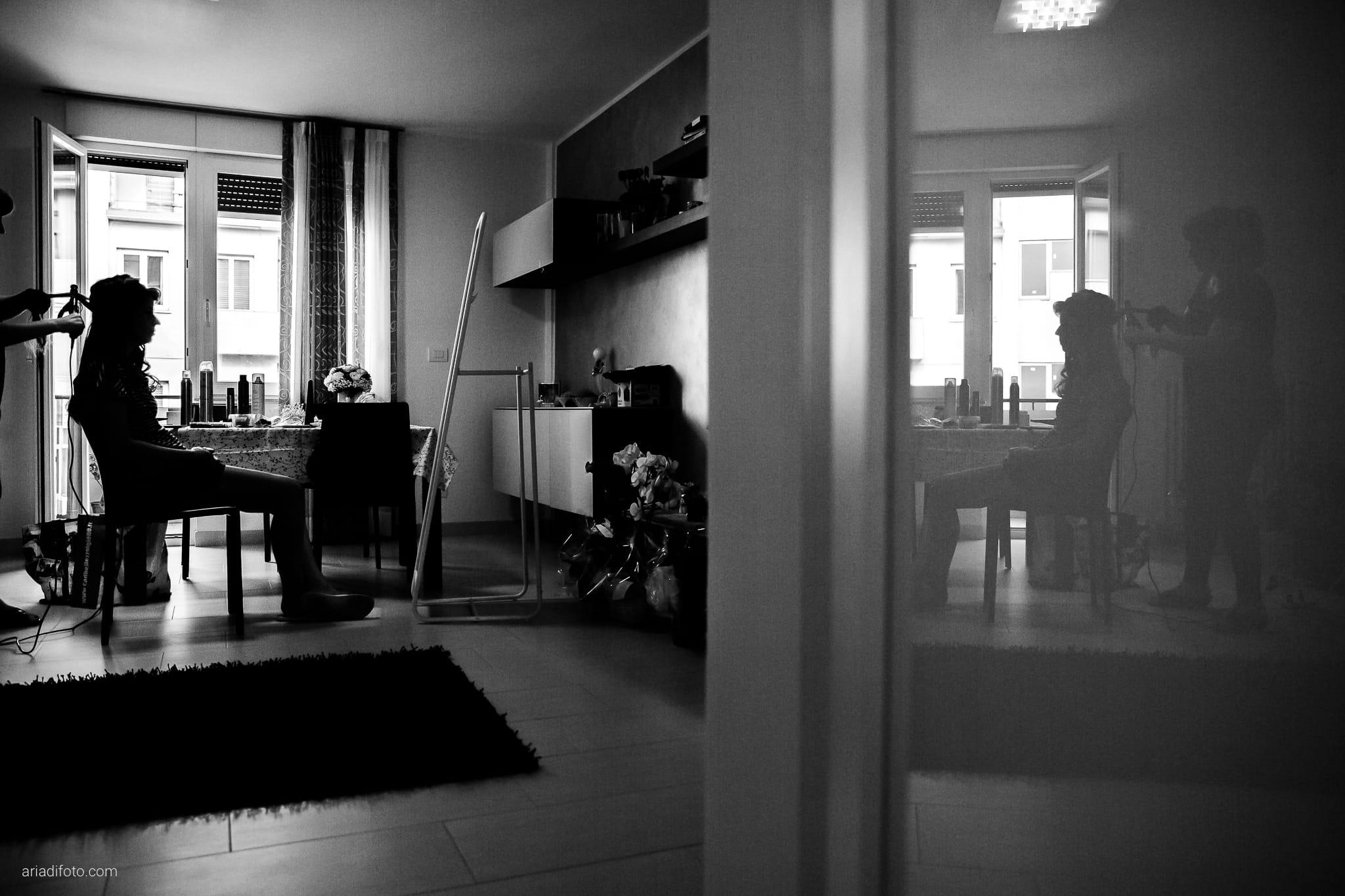 Rossella Stefano Matrimonio Muggia Mulin Koper Slovenia preparativi acconciatura specchio riflesso