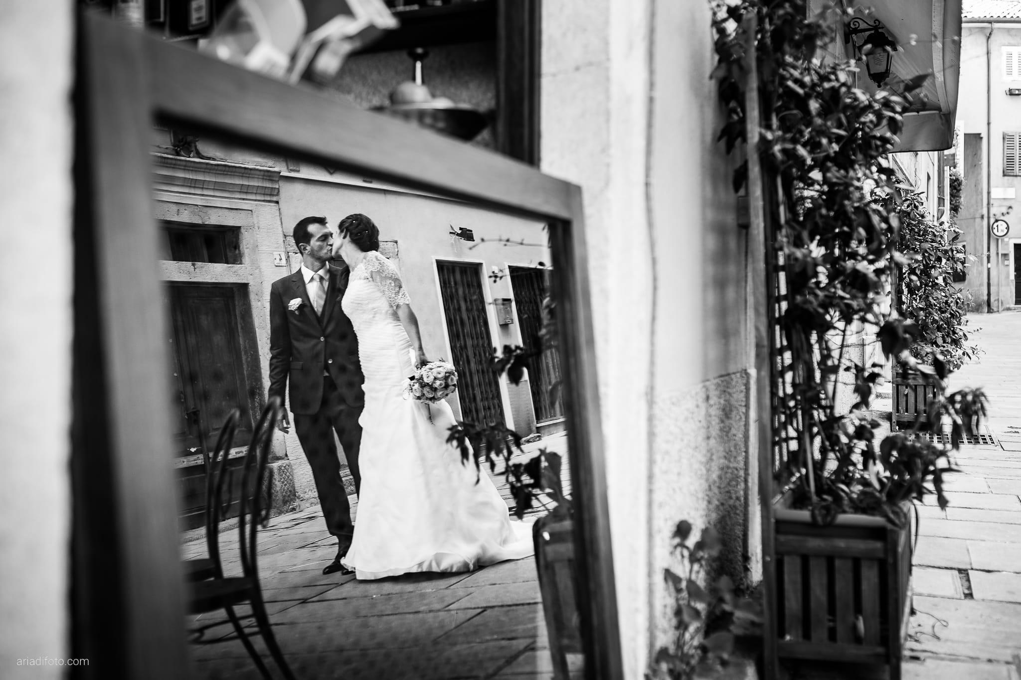 Rossella Stefano Matrimonio Muggia Mulin Koper Slovenia ritratti sposi specchio riflesso