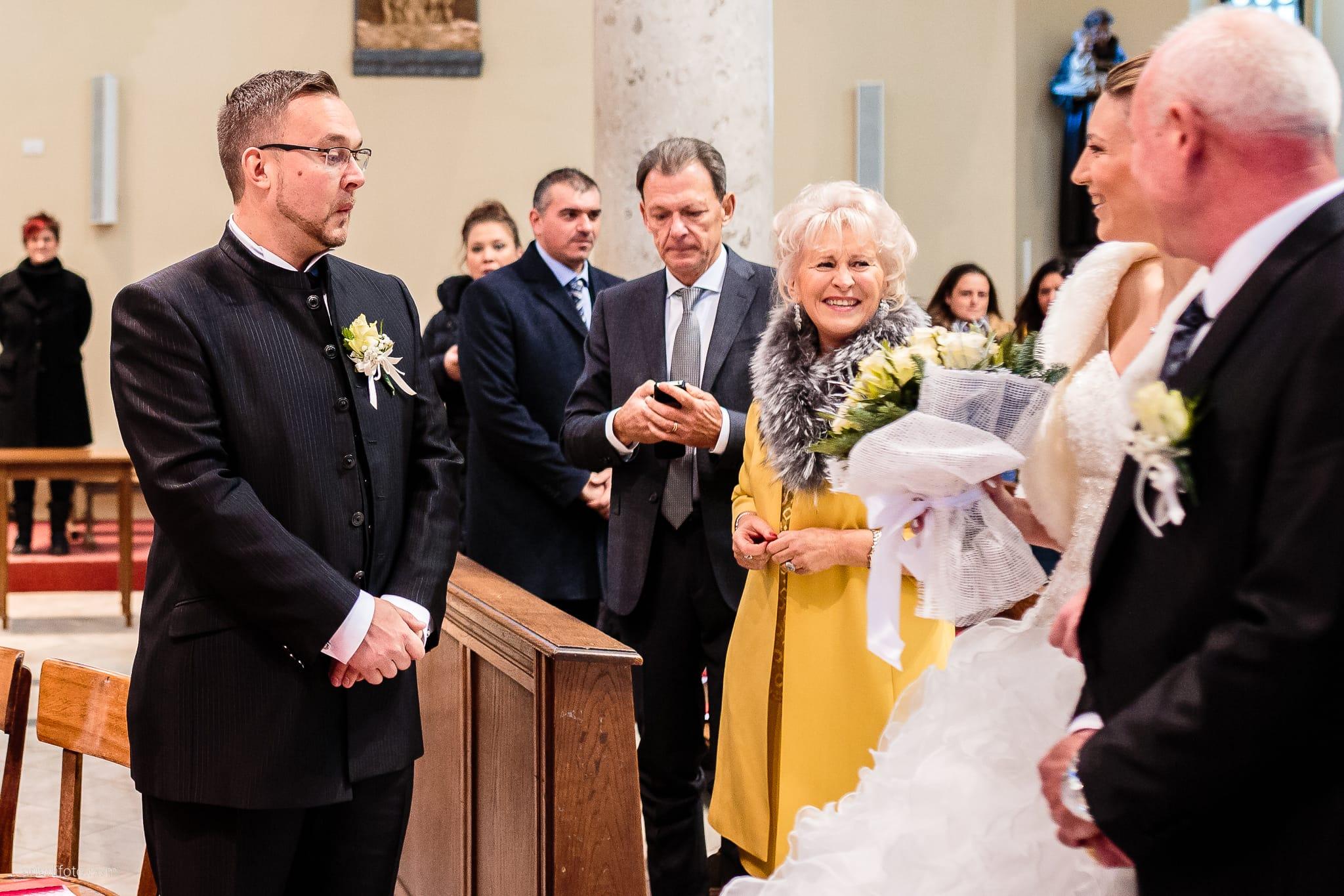 Elena Fabio Matrimonio Monfalcone Duomo di Sant'Ambrogio Castello Gorizia Rusjan Nova Gorica Slovenia cerimonia ingresso sposa