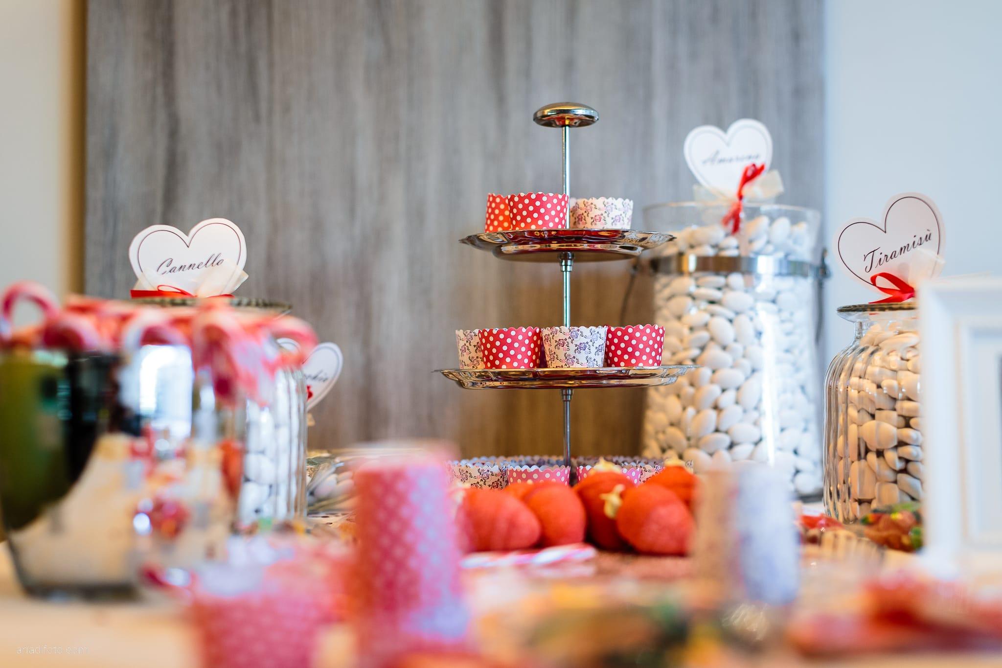 Elena Fabio Matrimonio Monfalcone Castello Gorizia Rusjan Nova Gorica Slovenia ricevimento dettagli tavolo confetti caramelle candy bar