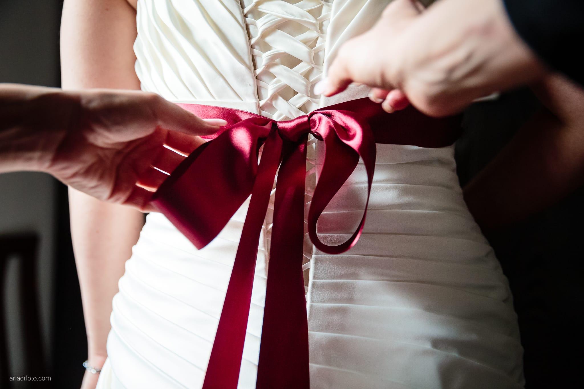 Agnese Alessandro Matrimonio Centro Visite Gradina Doberdo Gorizia Farra preparativi mani fiocco