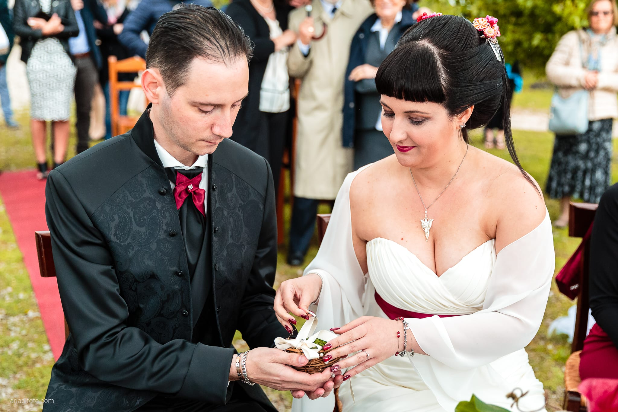 Agnese Alessandro Matrimonio Centro Visite Gradina Doberdo Gorizia Farra cerimonia scambio anelli