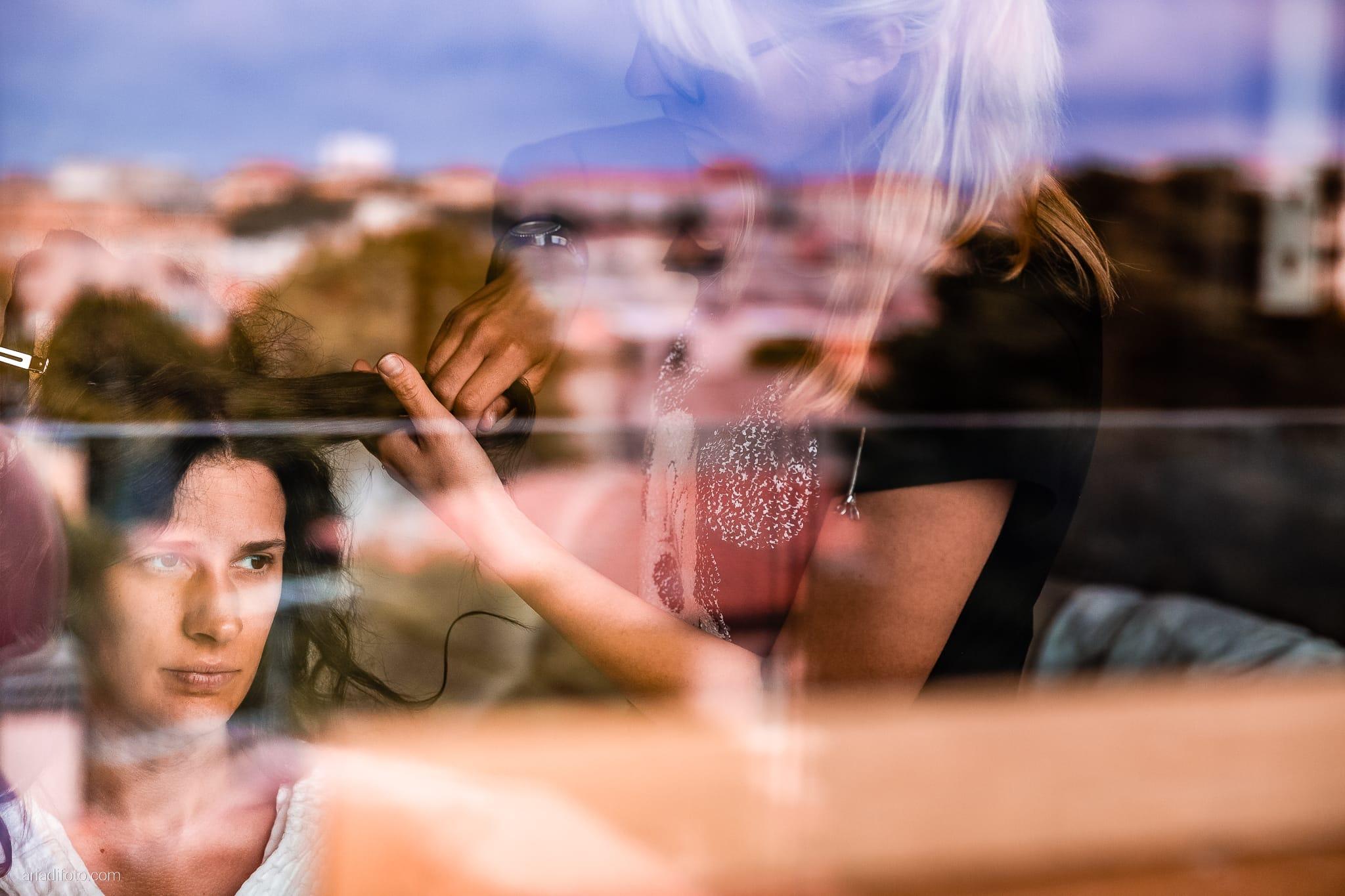 Francesca Andrea Matrimonio Muggia Porto San Rocco Marina San Giusto Trieste preparativi acconciatura riflesso