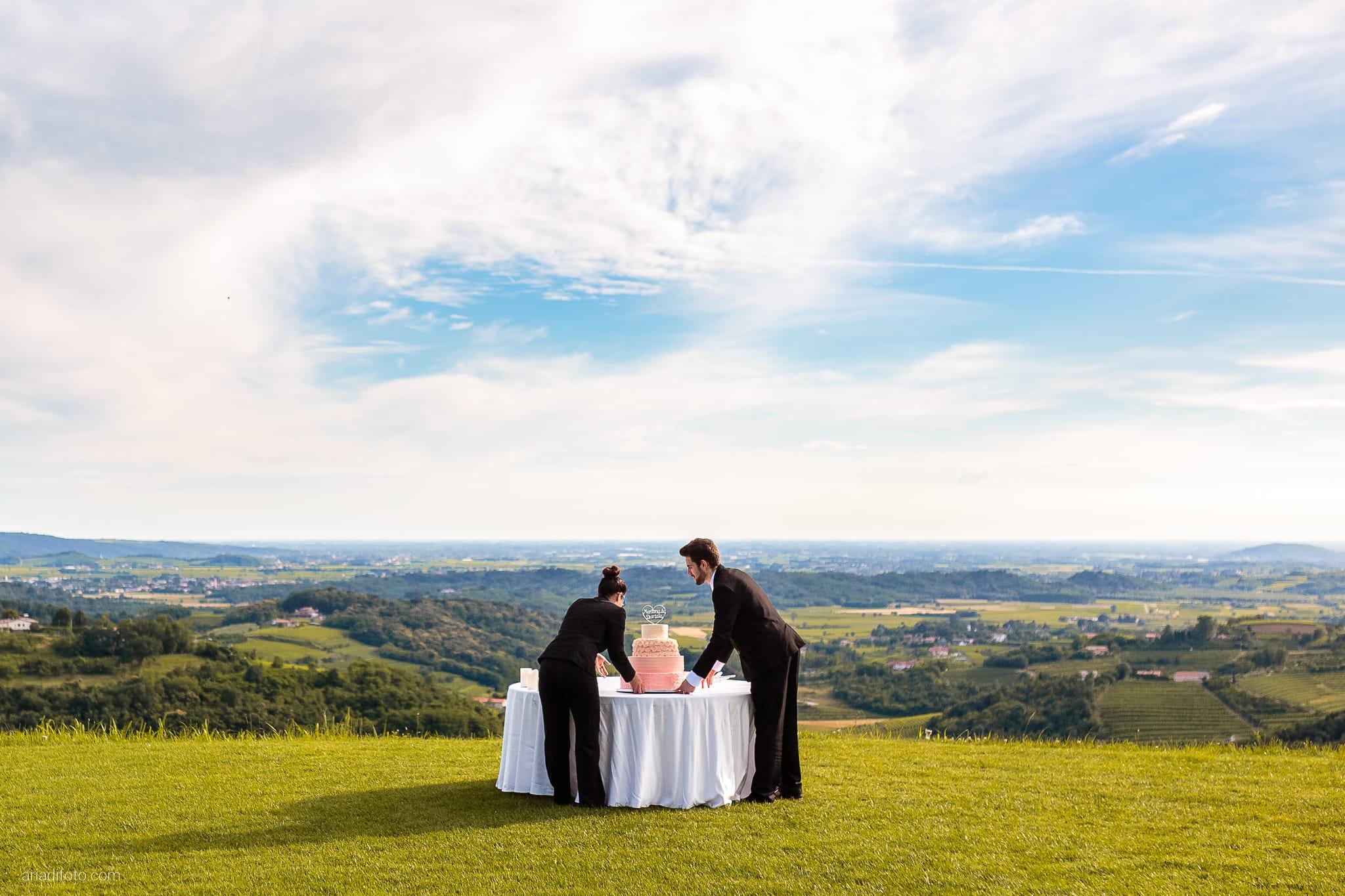 Martina Daniele Matrimonio Duino Baronesse Tacco Collio Gorizia ricevimento torta