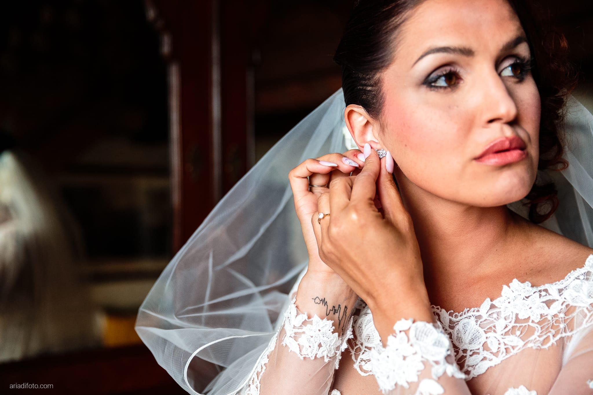 Sofia Mario Matrimonio Baronesse Tacco Collio Gorizia preparativi orecchini