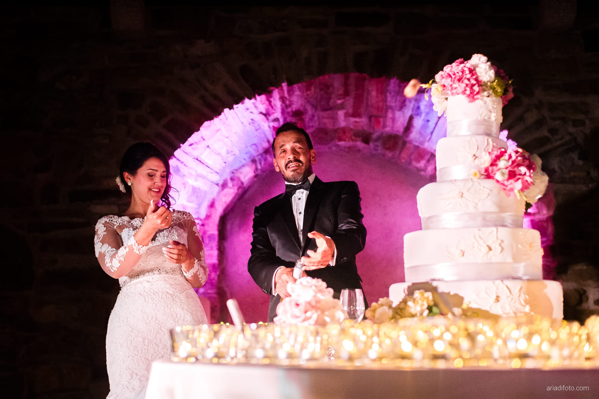 Sofia Mario Matrimonio Baronesse Tacco Collio Gorizia ricevimento torta