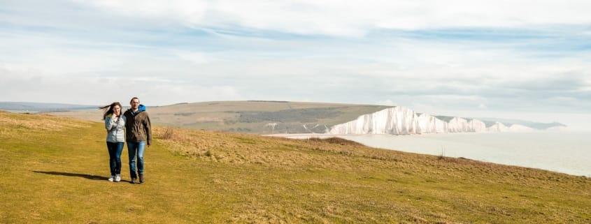 Teresa Andrea Engagement Prematrimoniale Seven Sisters cliffs scogliere Eastbourne UK England Brighton