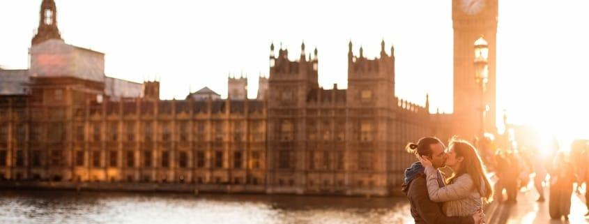 Teresa Andrea Prematrimoniale Londra Inghilterra UK Westminster Bridge Ponte Big Ben