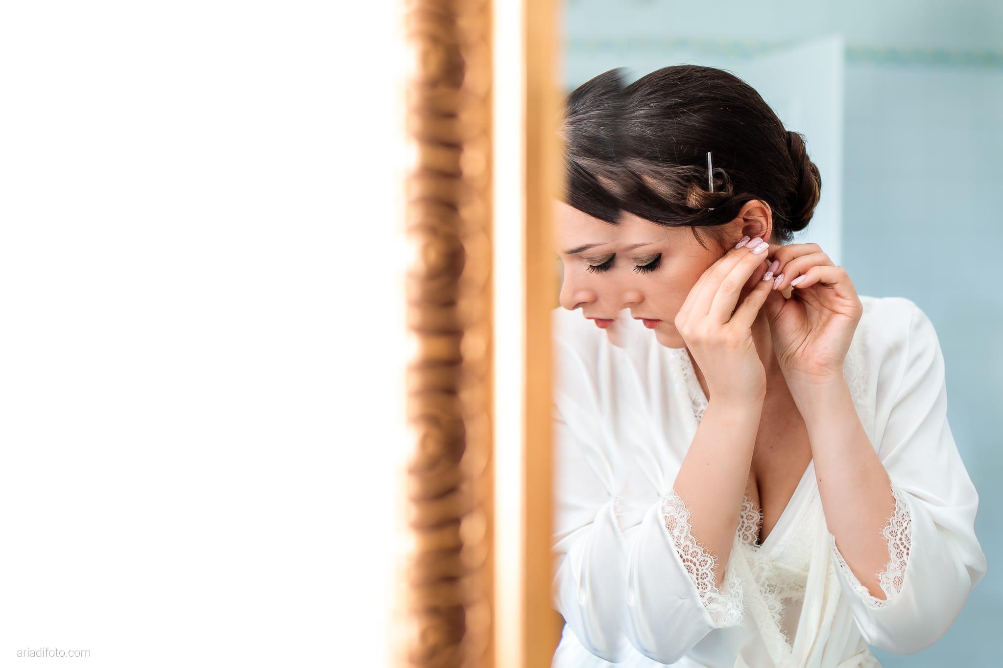 Valentina Marco Matrimonio Duomo Gorizia Castelvecchio Sagrado preparativi riflesso specchio