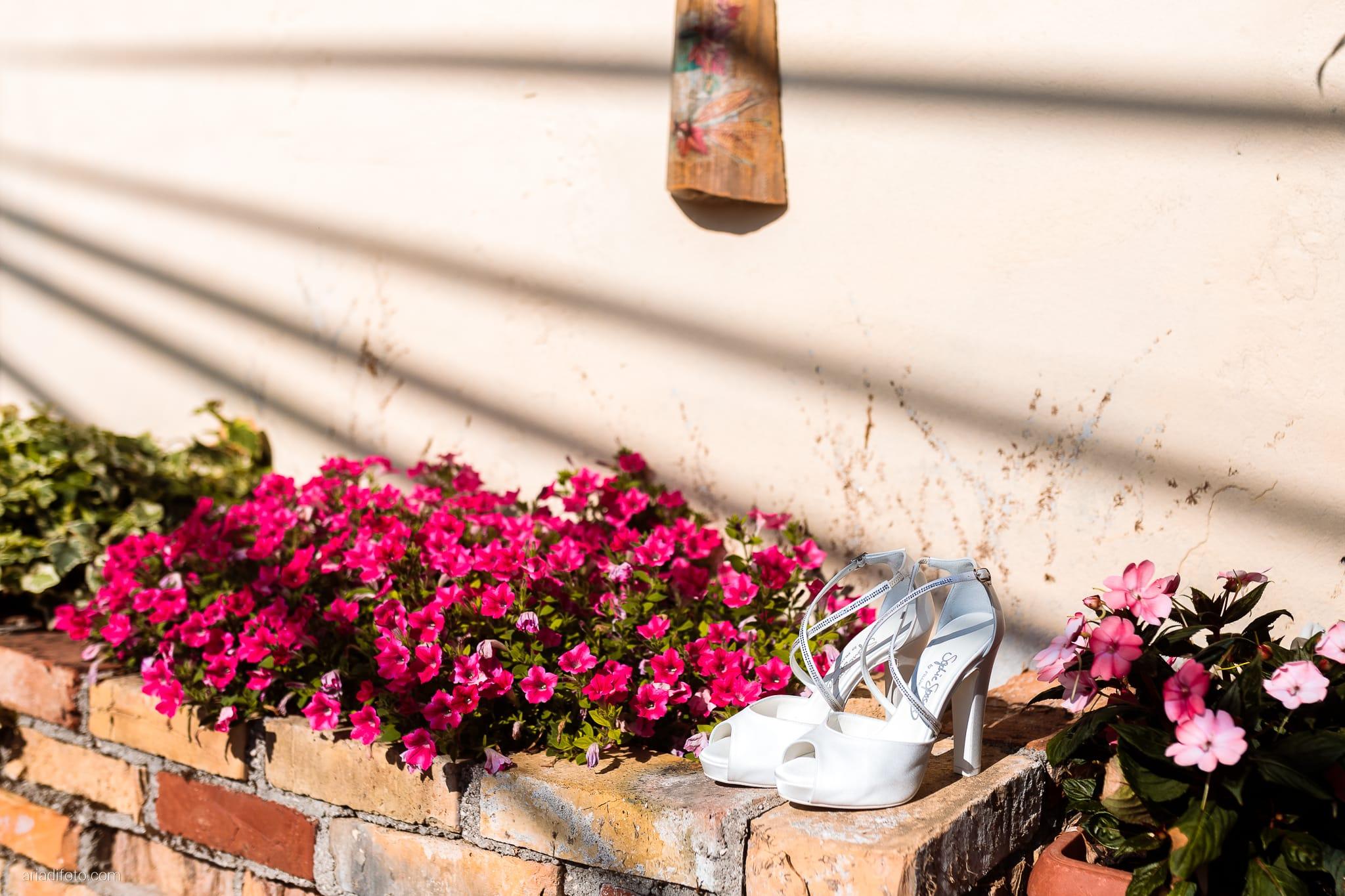 Alice Paolo Matrimonio San Giorgio Villa Iachia Ruda Udine preparativi sposa dettagli scarpe