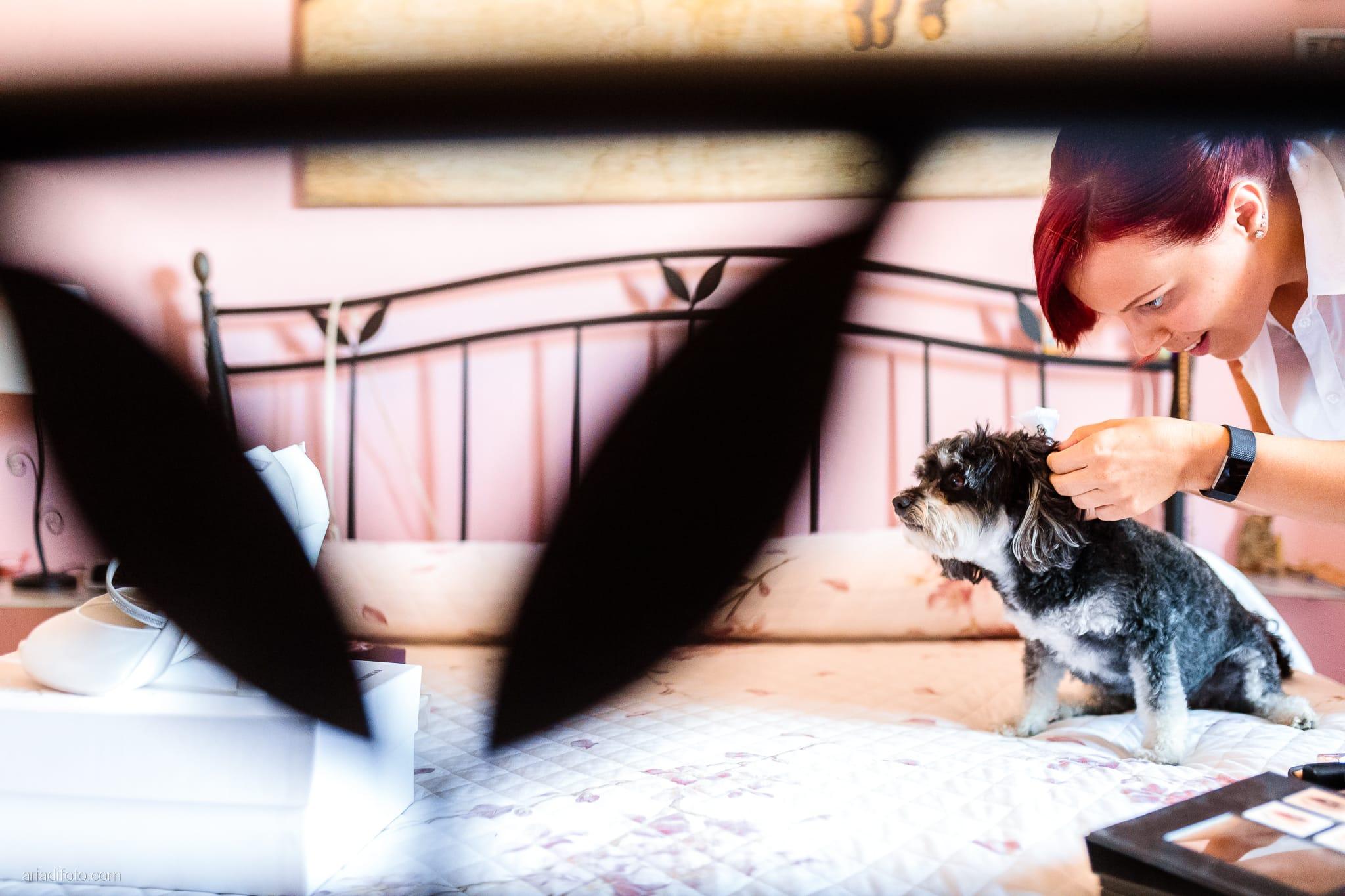 Alice Paolo Matrimonio San Giorgio Villa Iachia Ruda Udine preparativi sposa dog