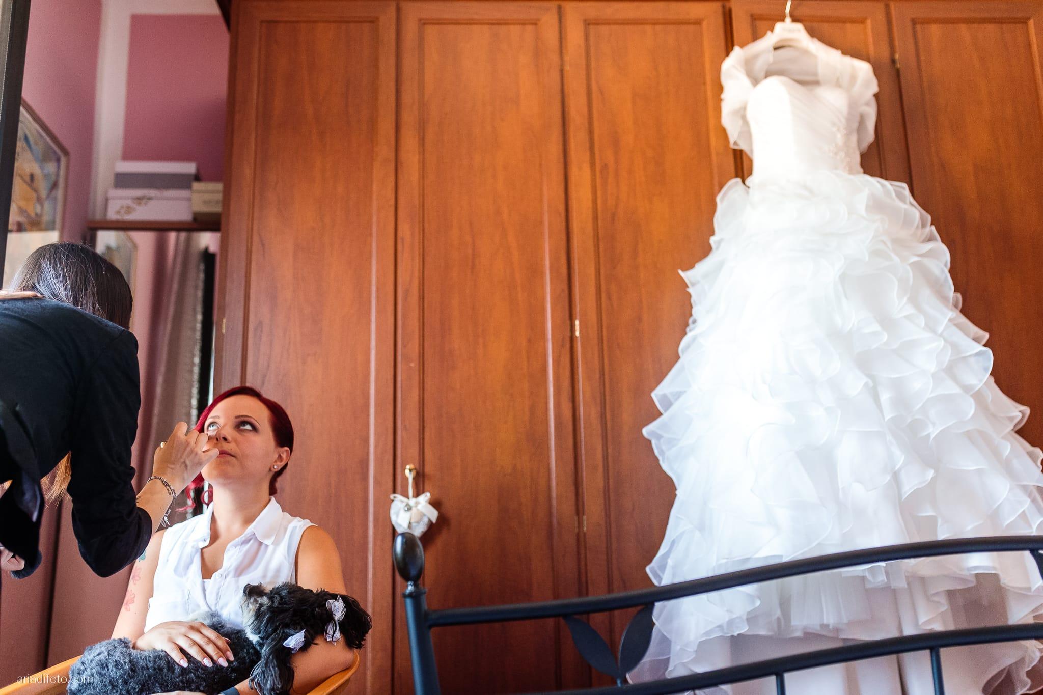 Alice Paolo Matrimonio San Giorgio Villa Iachia Ruda Udine preparativi sposa dettagli abito