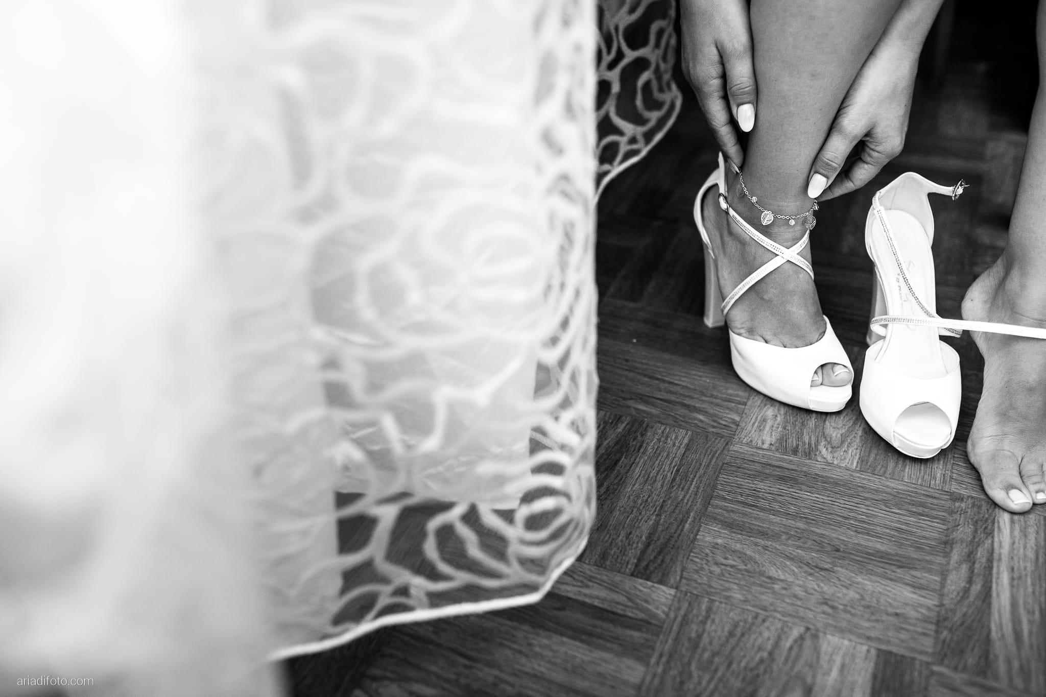 Alice Paolo Matrimonio San Giorgio Villa Iachia Ruda Udine preparativi sposa scarpe